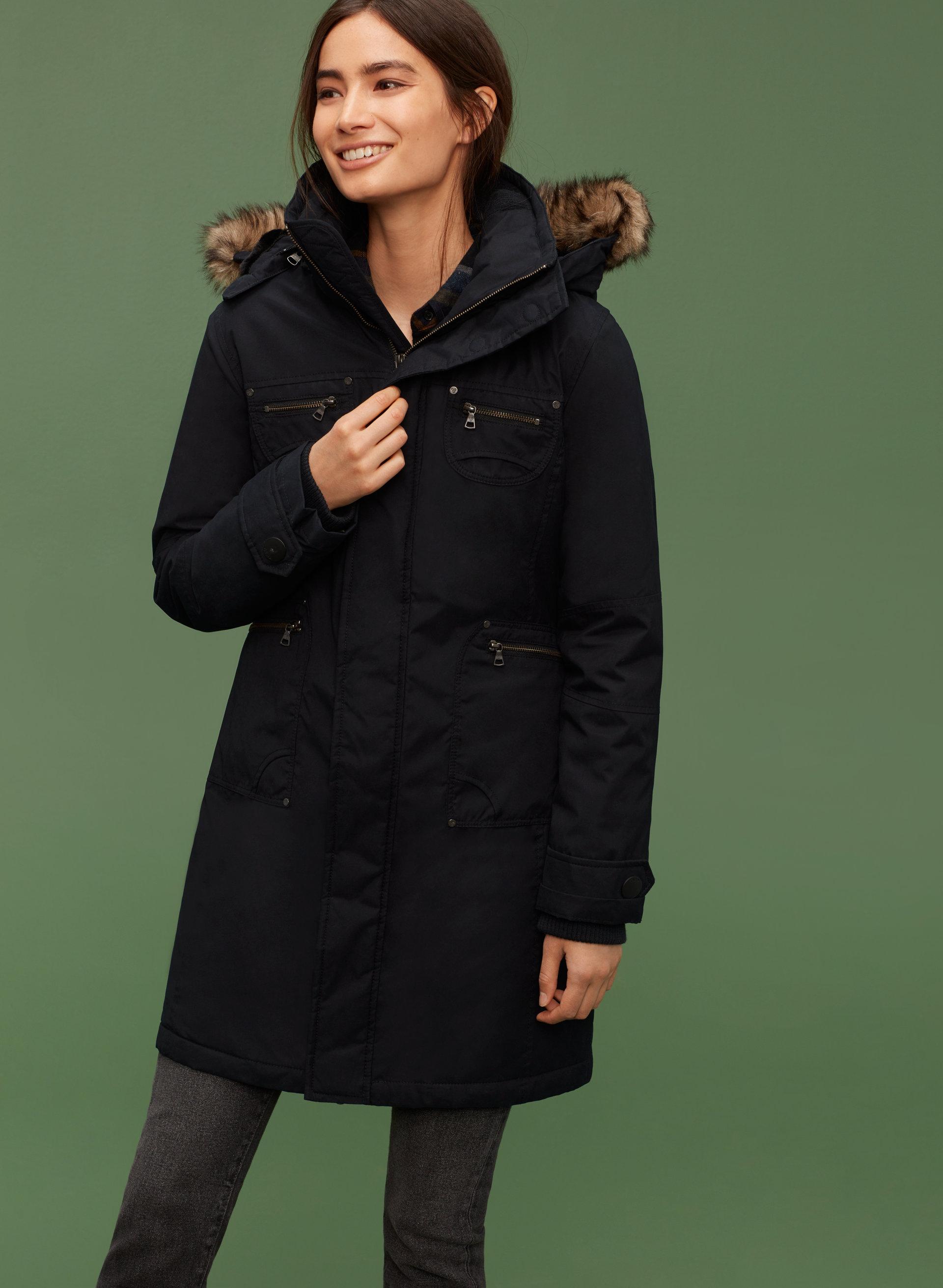 Tna black parka jacket