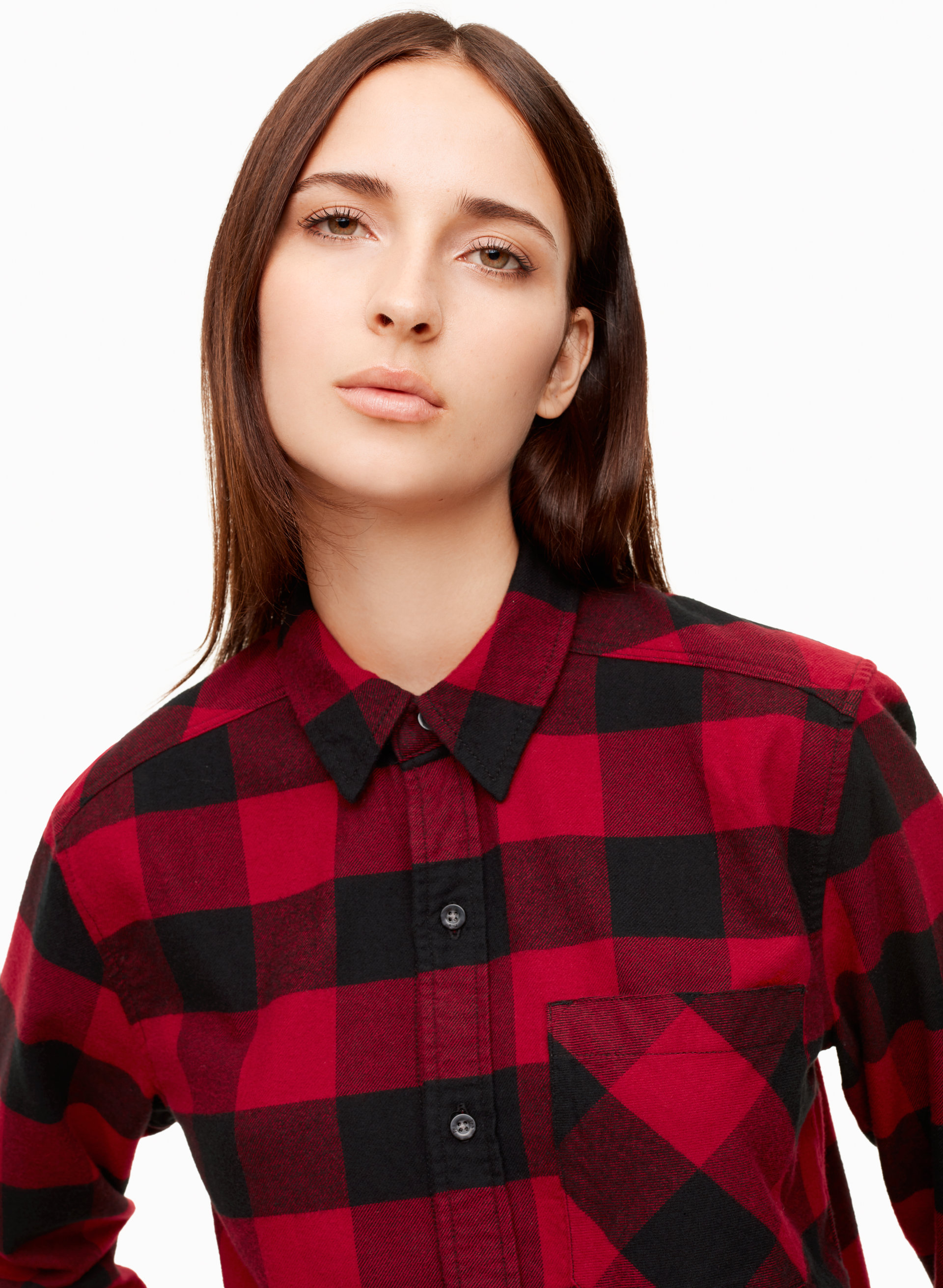 2c8902ba6 Buffalo Plaid Red And Black Button Down Shirt – EDGE Engineering and ...