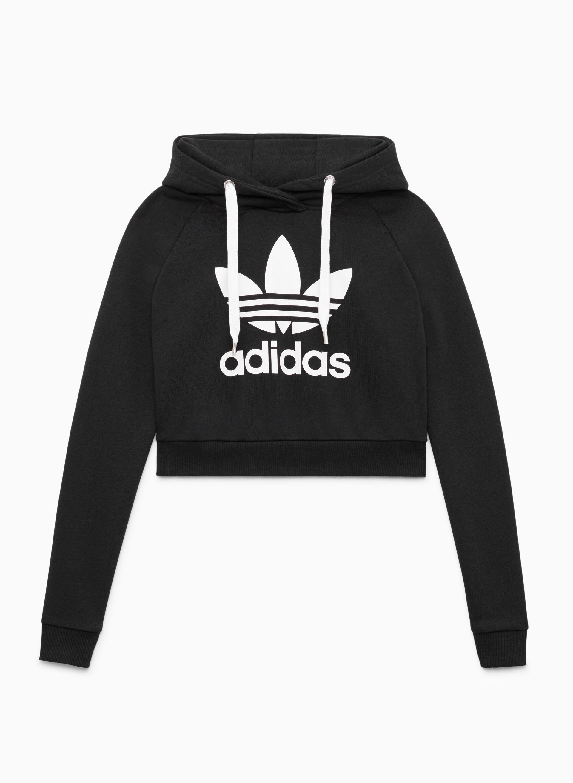 crop adidas hoodie