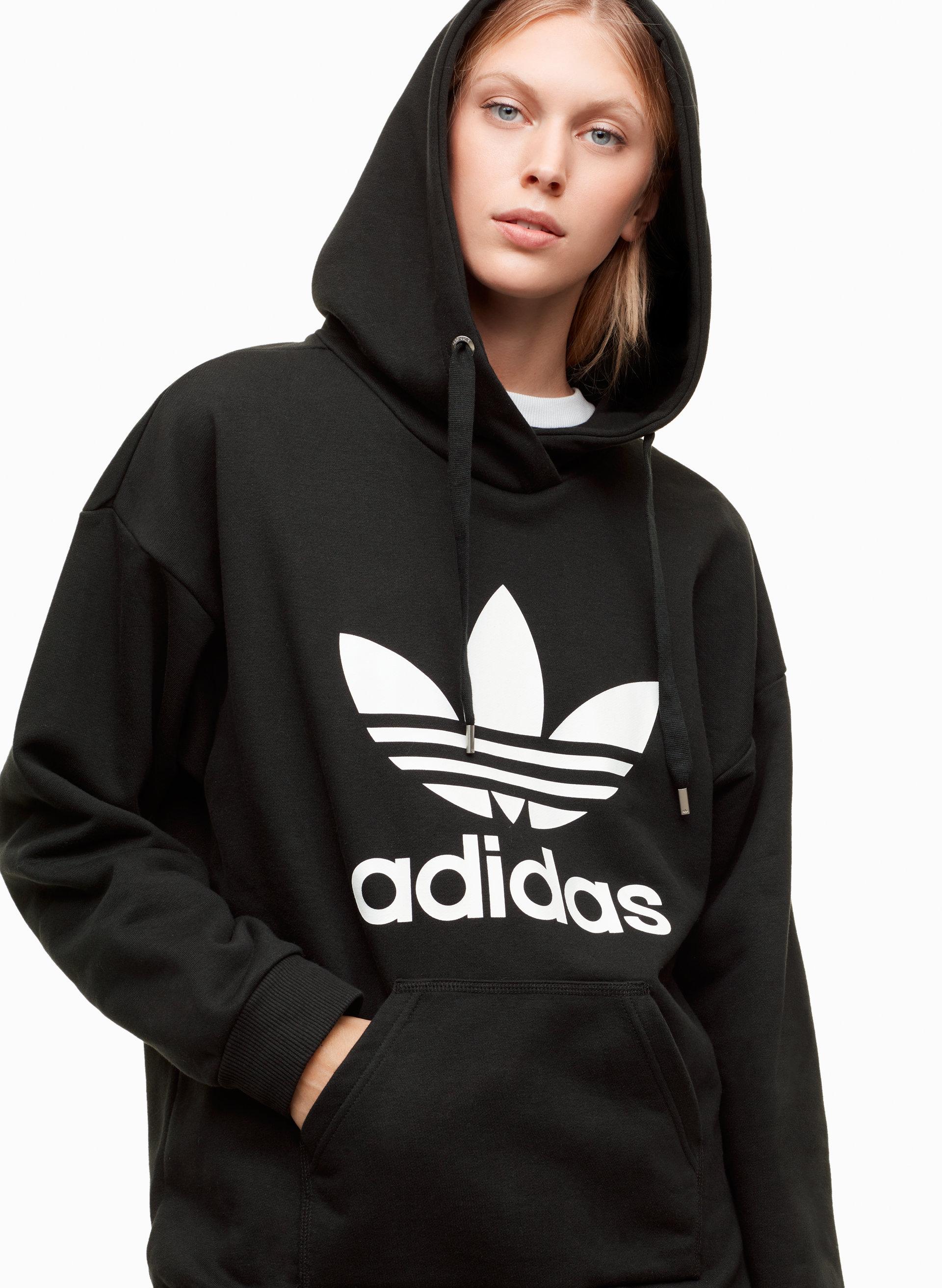 5d155783 adidas LONG TREFOIL HOODIE | Aritzia CA