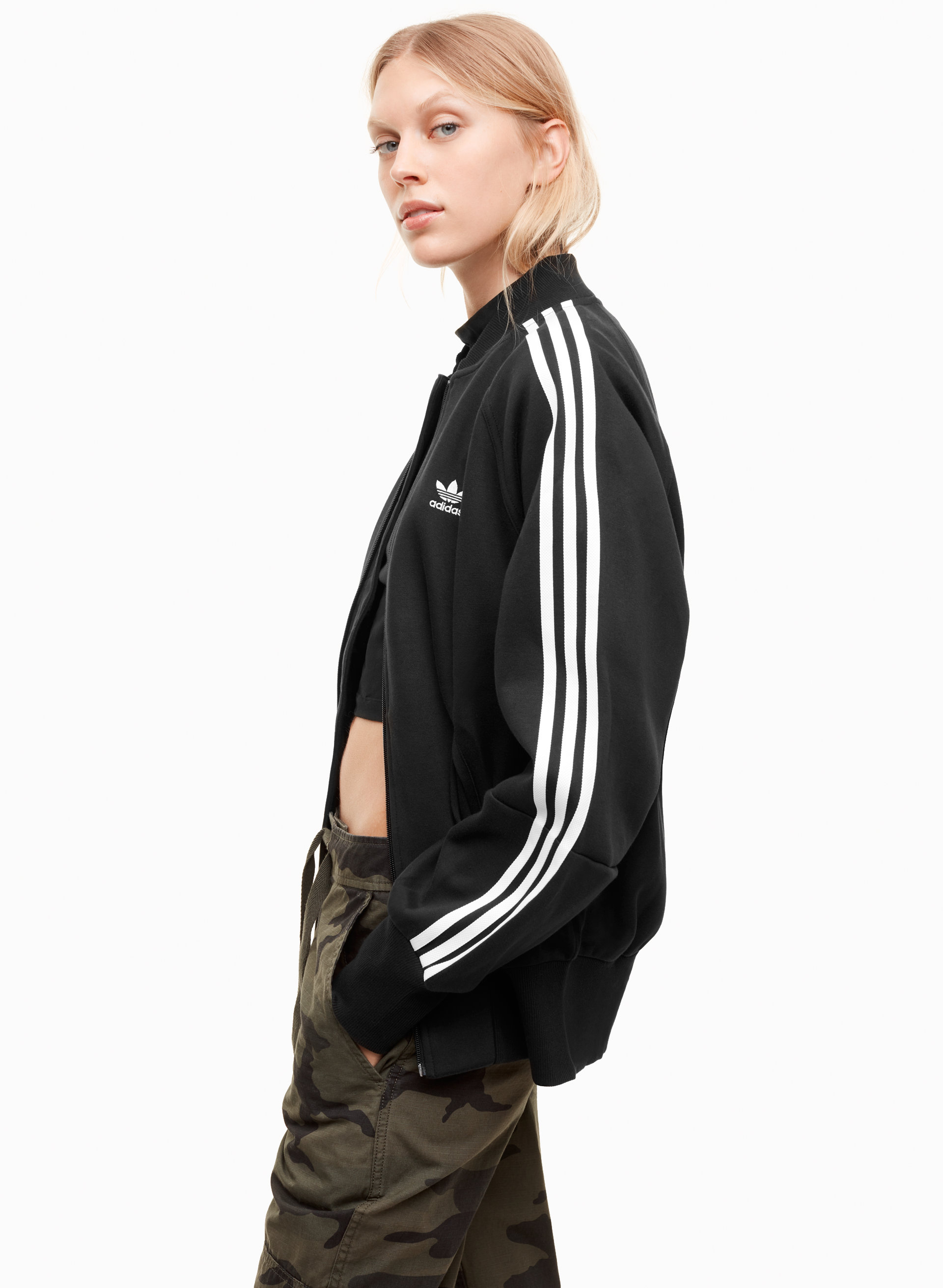 100% authentic a46dd f746e adidas 3 STRIPES TRACK TOP   Aritzia ...