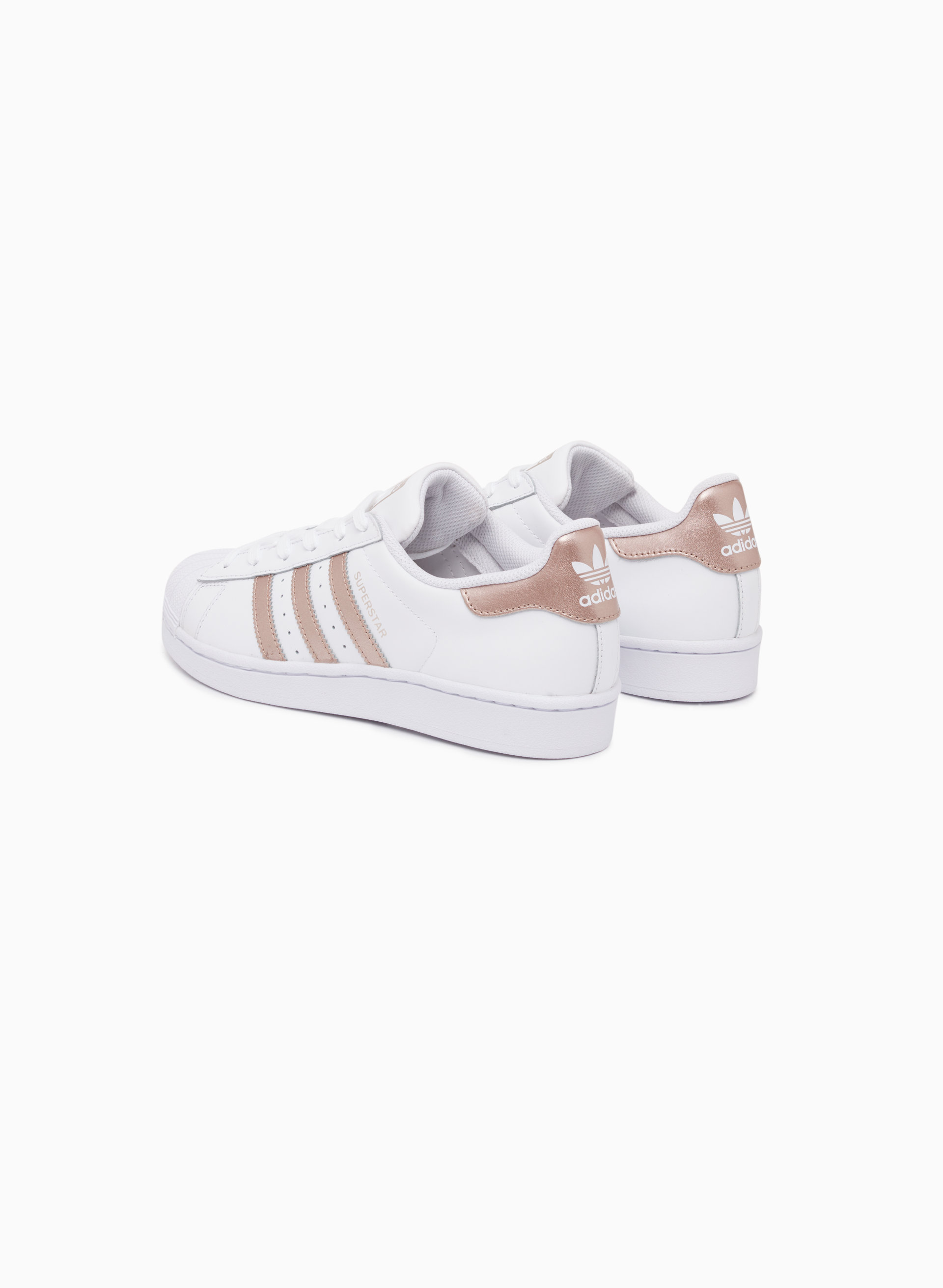 Cheap Adidas Womens Superstar Sneakers in Black Pink & Blue Leather