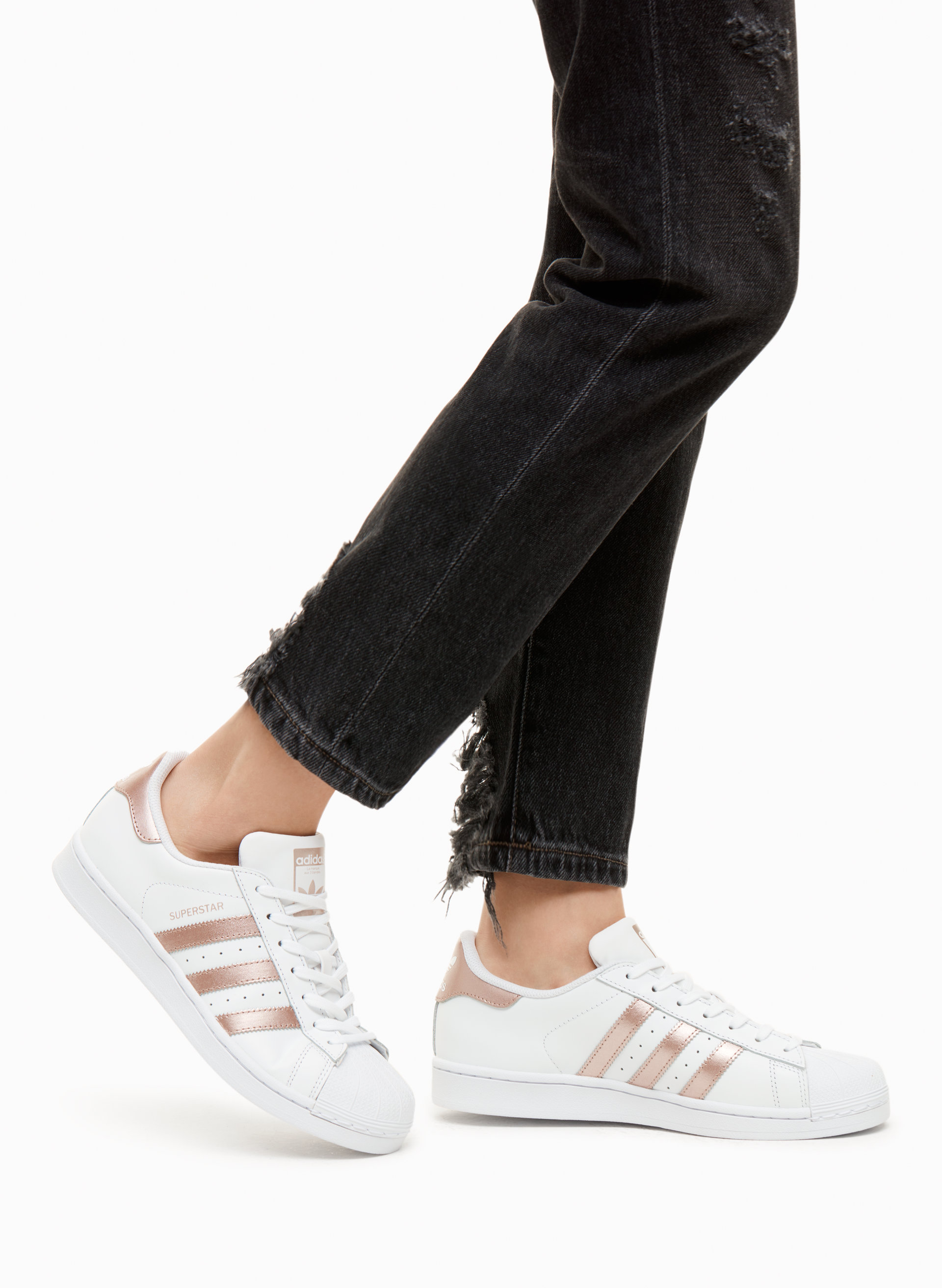 Cheap Adidas superstar black and white gold