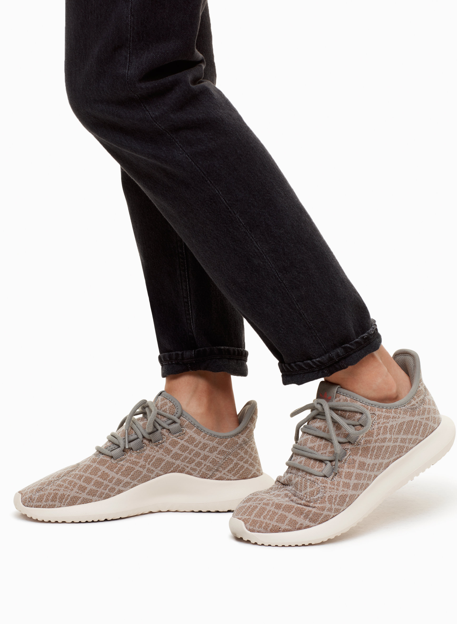 adidas Tubular Shadow Sneakers in White Grey Coral Akira