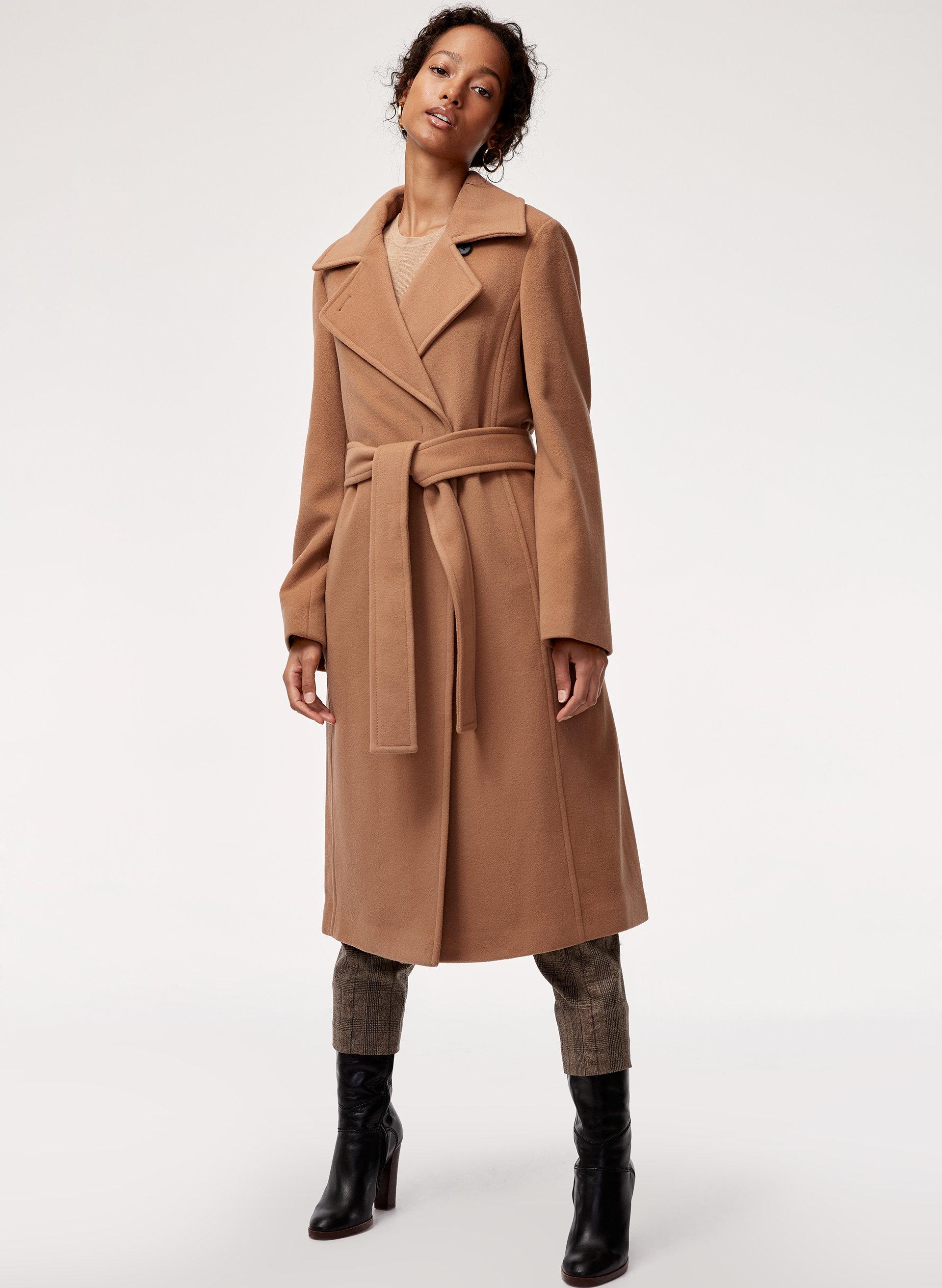2b559235d633 robbie wool coat long Belted, virgin-wool coat