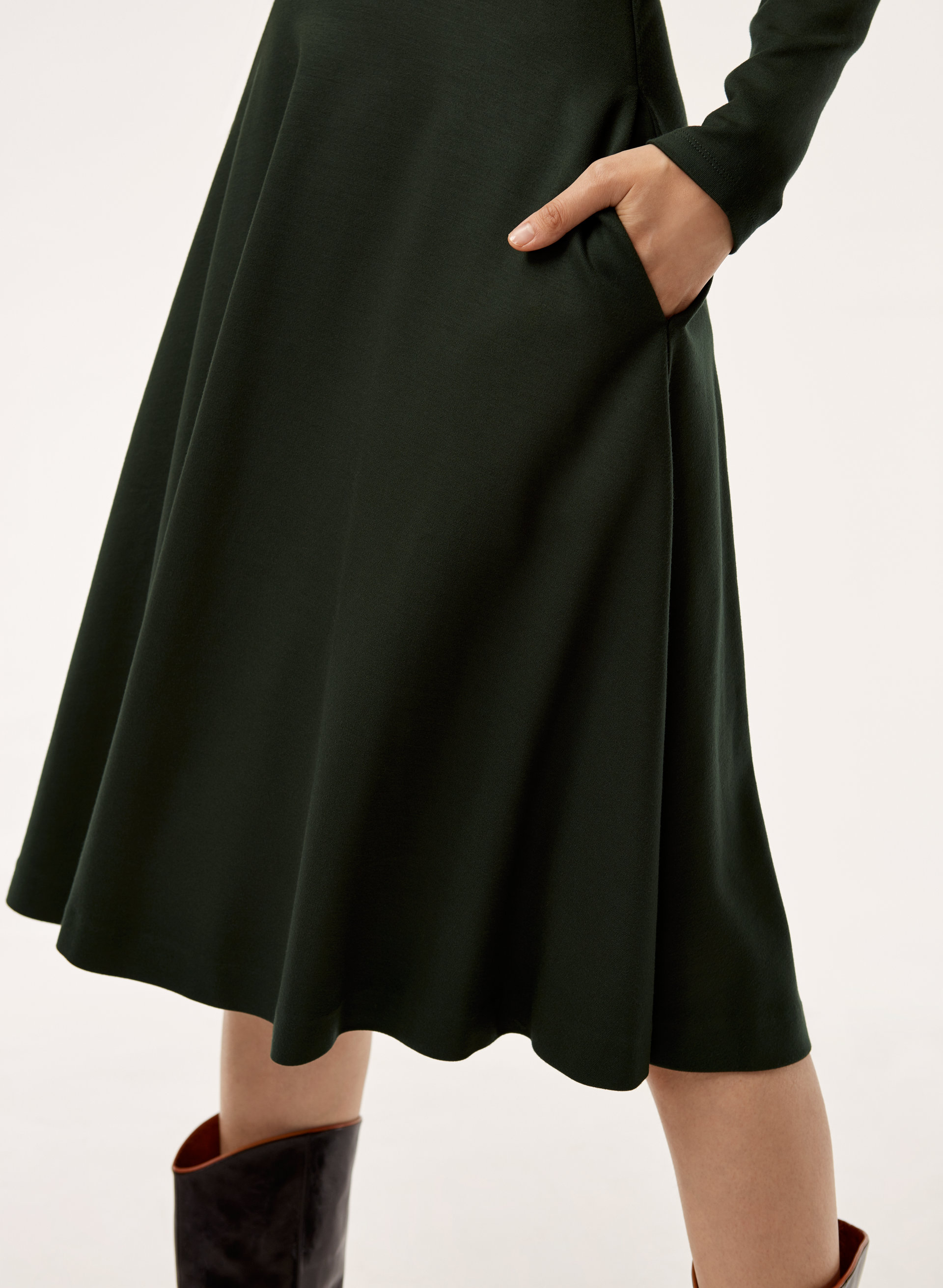 84d3d64bf2 MARC DRESS - Mock-neck, ponte midi dress