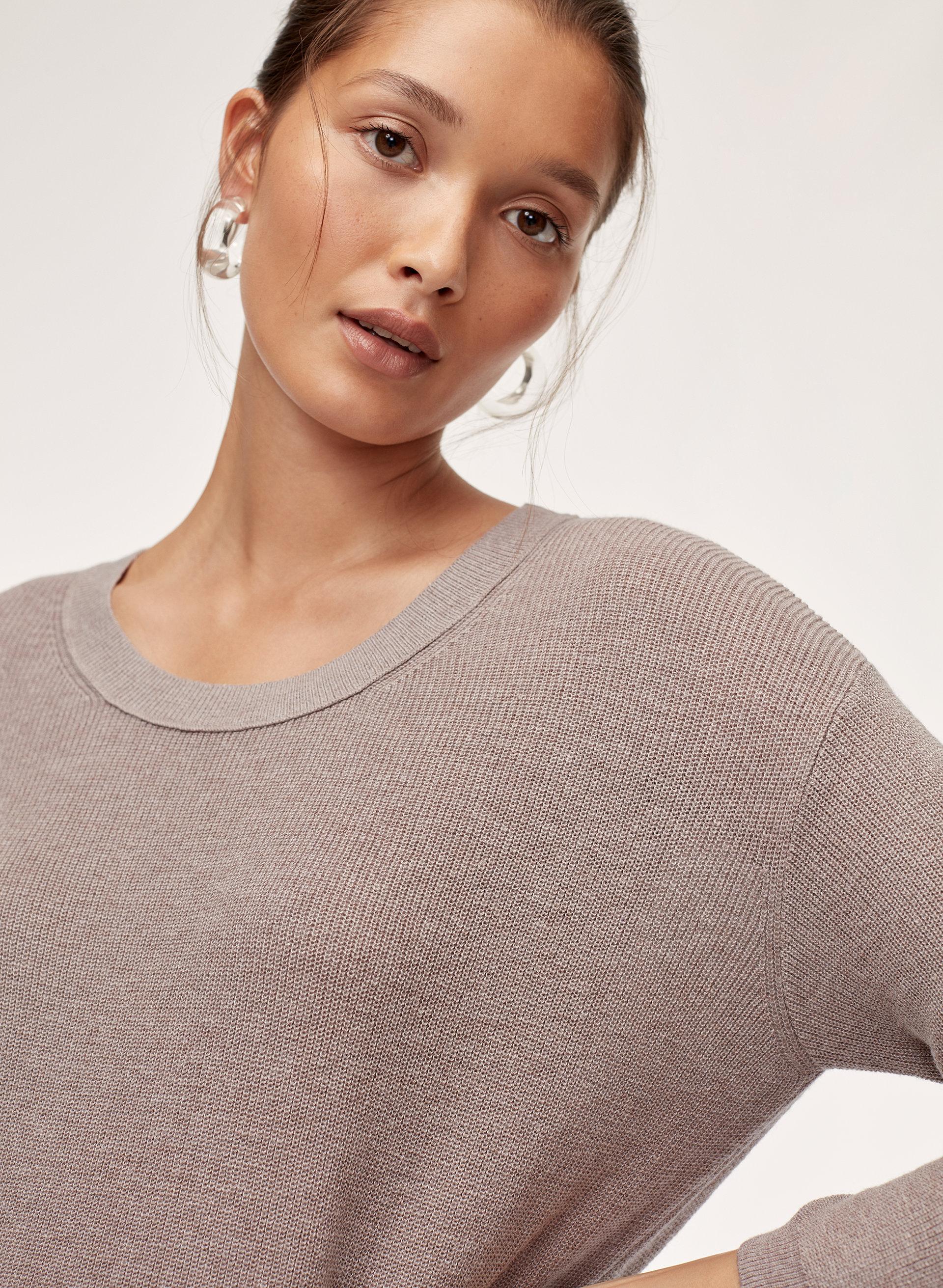 3be3cea00e8e1f BALZAC SWEATER - Silk-blend crewneck sweater