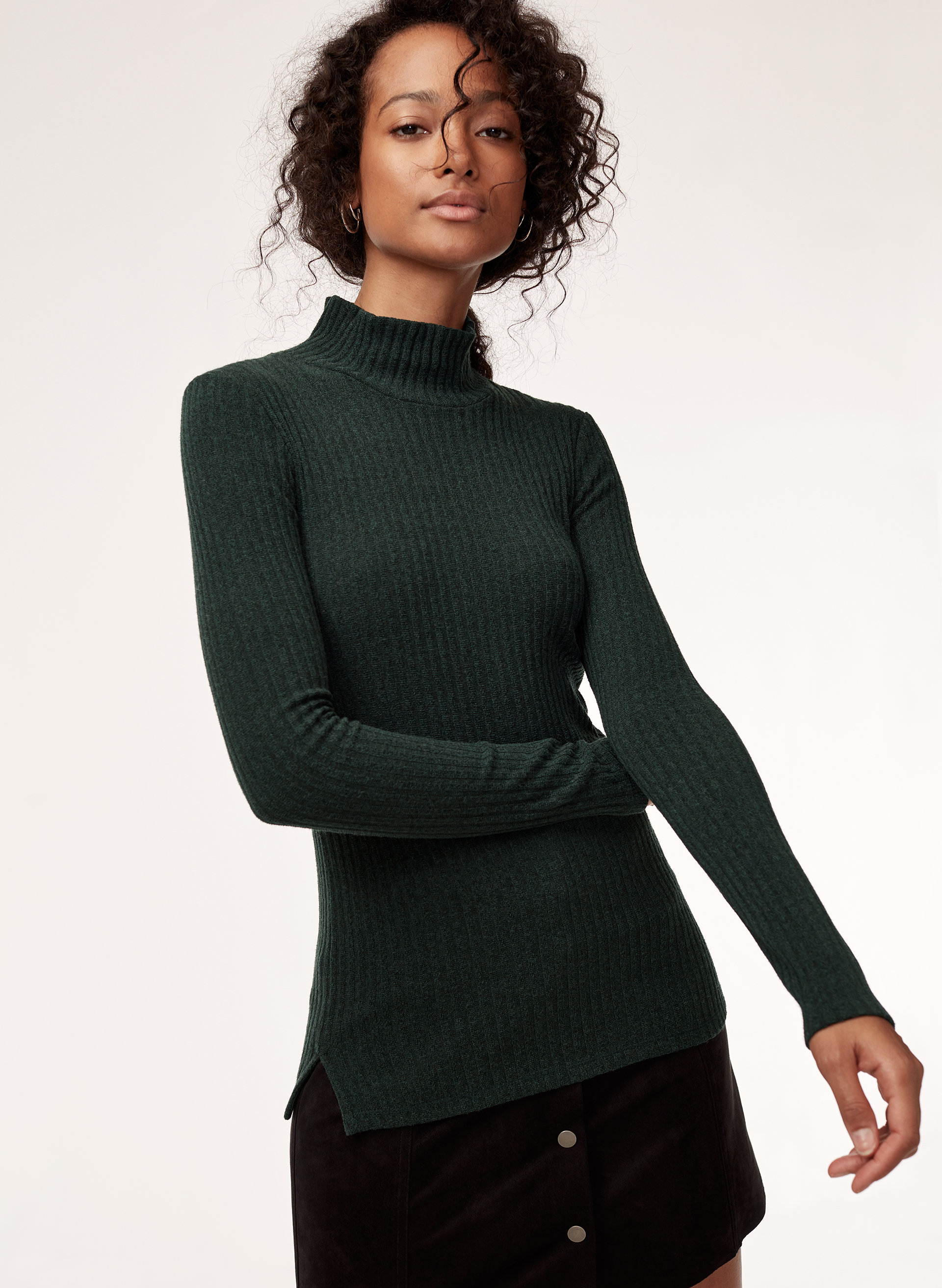 6bf9a390bc buswell t-shirt Ribbed turtleneck shirt
