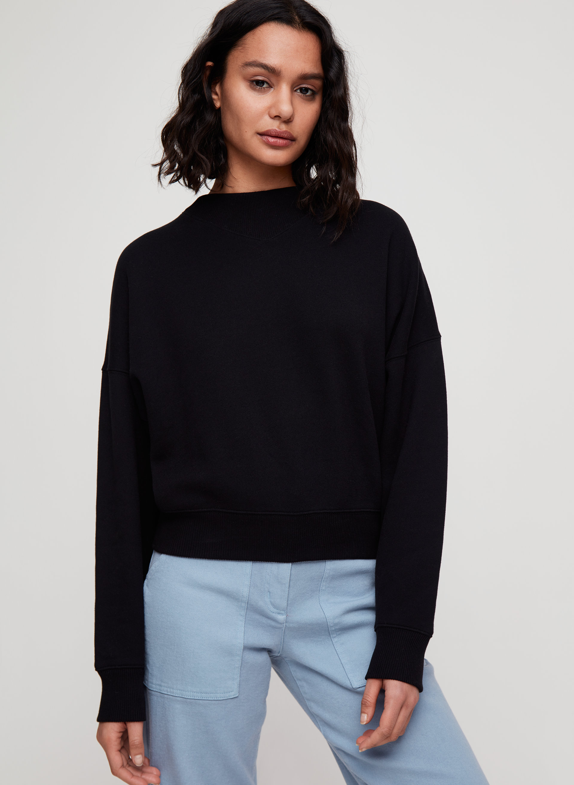 e3f588af katy sweater Cropped mock-neck sweater