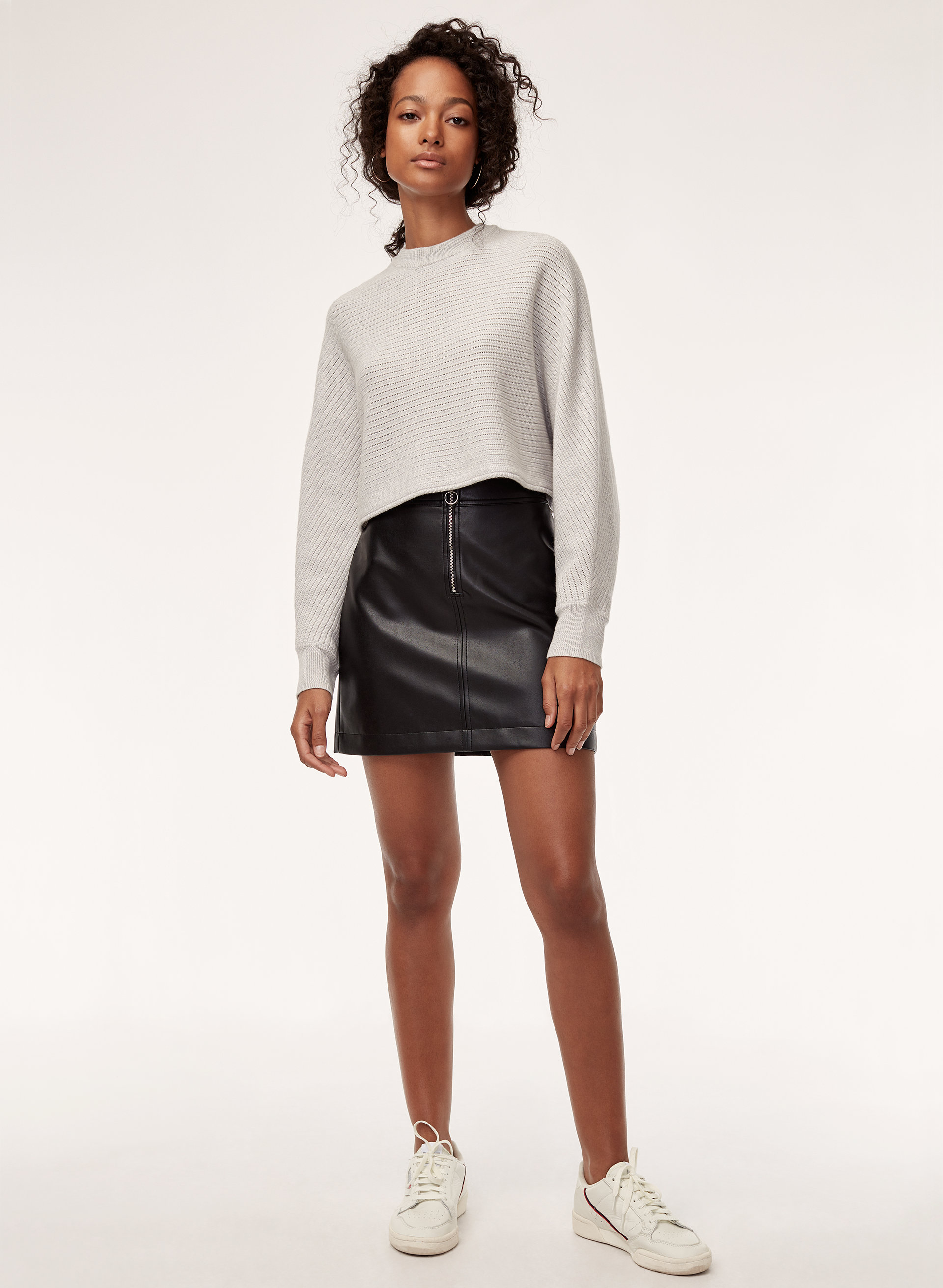 e0af1f09a5fc3a Zip To It Vegan Leather Mini Skirt