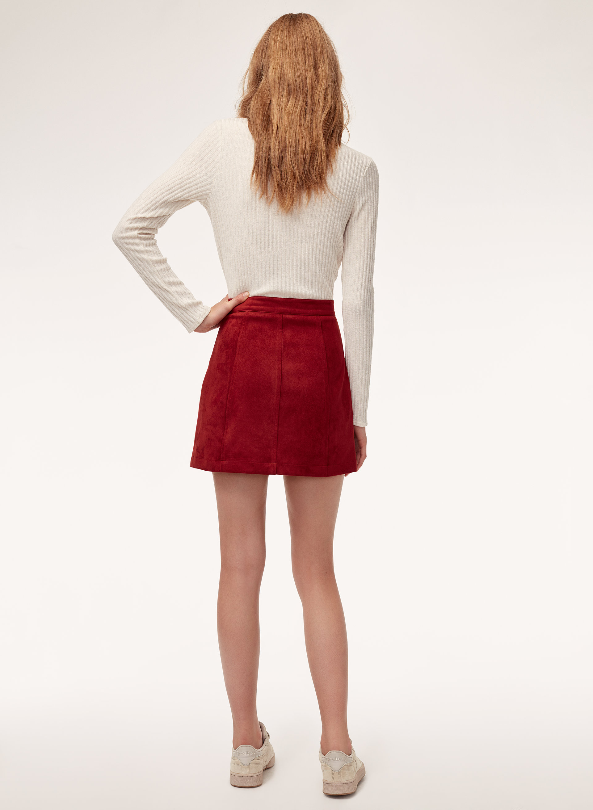 227d34986e LEAH SKIRT - Faux suede, zip-up mini skirt · Wilfred Free