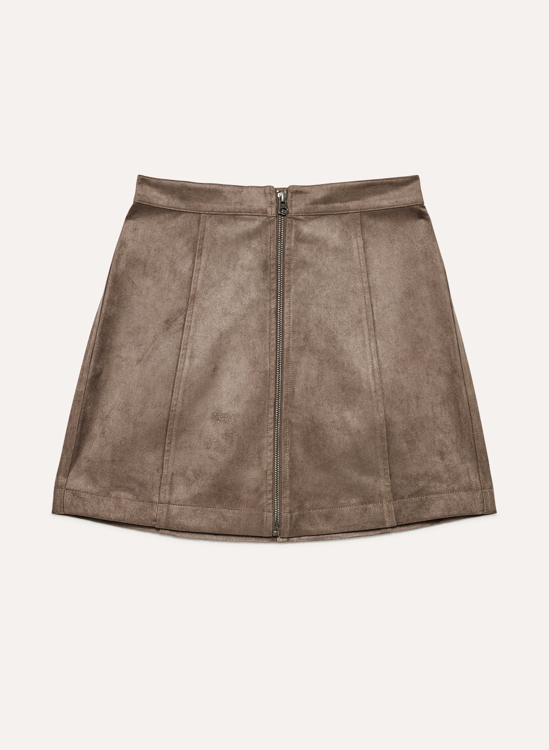 cced4a4f23 leah skirt Faux suede, zip-up mini skirt
