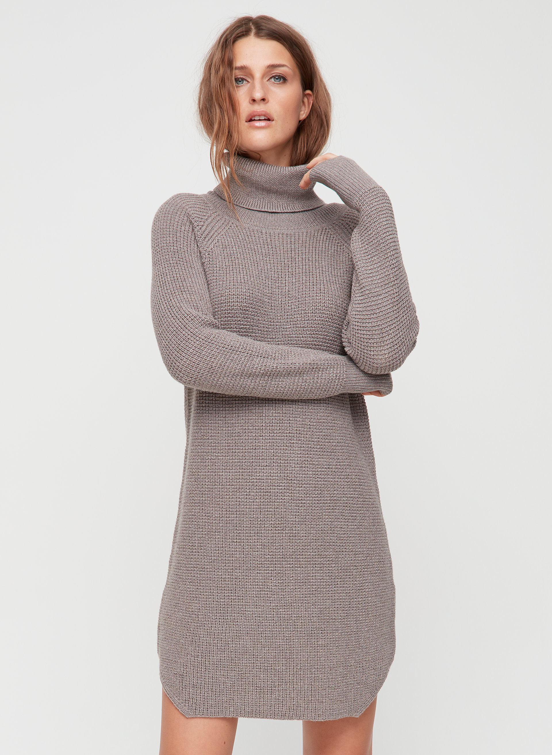 53be01af79da5 bianca dress Knitted, turtleneck sweater dress