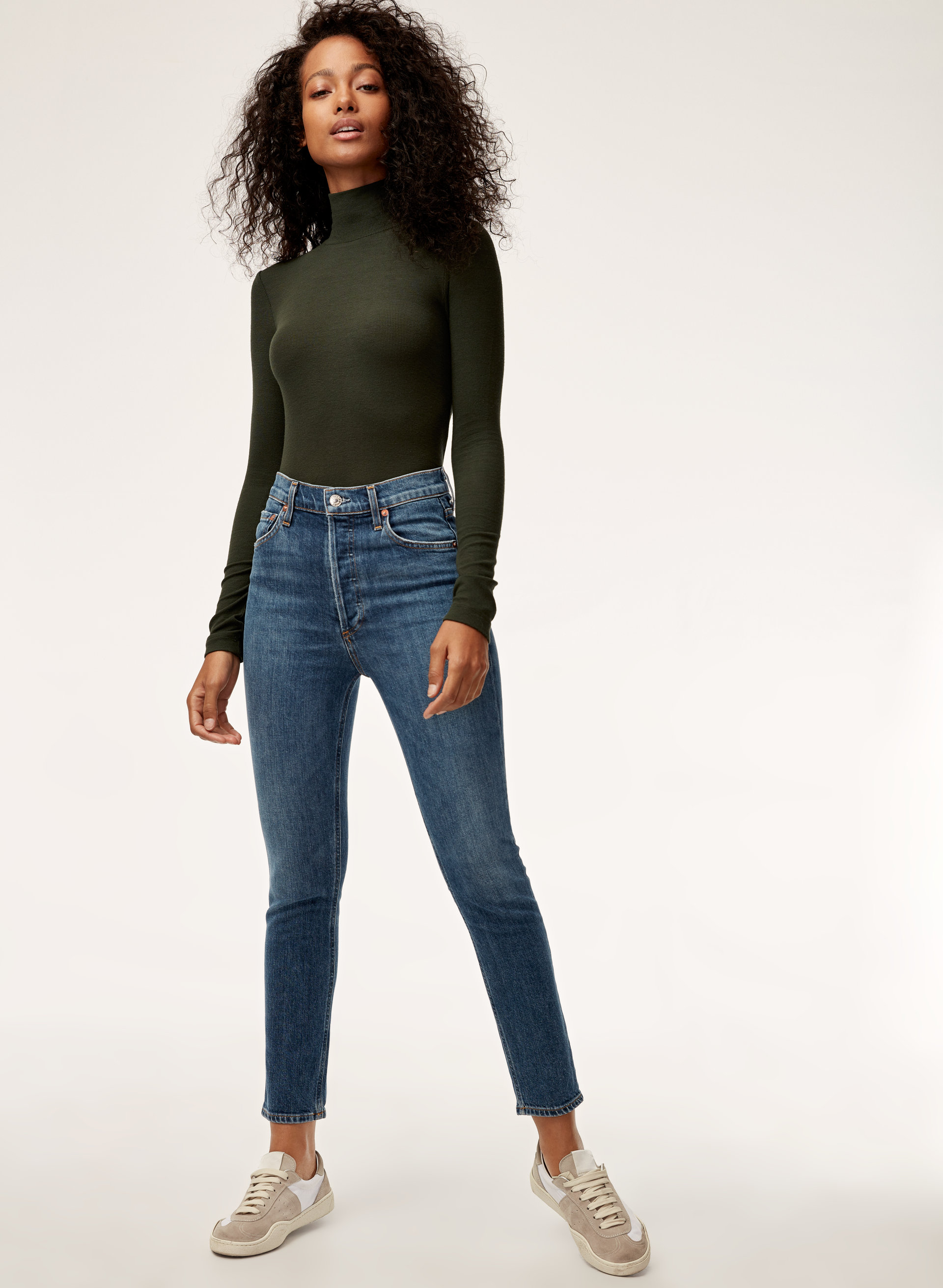4c2d5f76058c High-waisted, button-fly jean. AGOLDE NICO SUBDUED | Aritzia ...