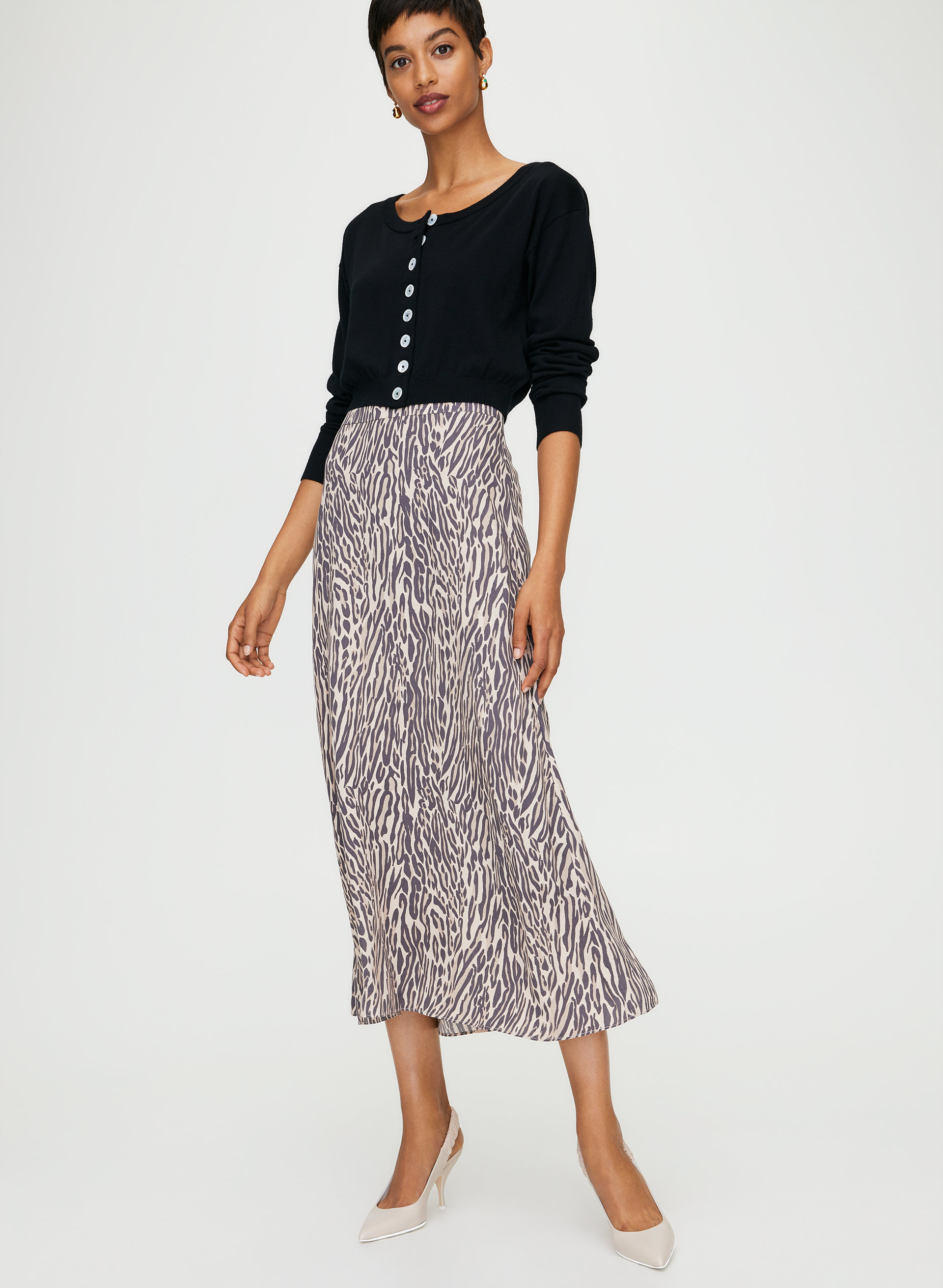 special price for autumn shoes elegant appearance Wilfred MIDI SKIRT | Aritzia CA