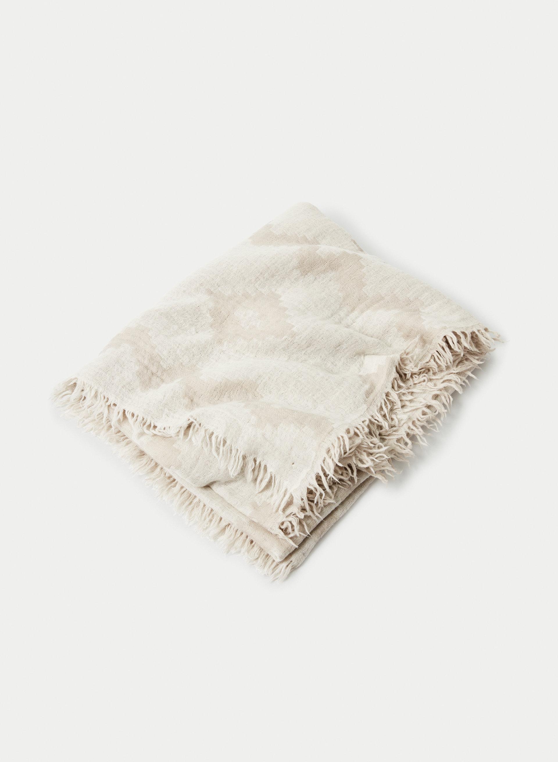 13ca0b6e2eb69 DIAMOND MOSAIC BLANKET SCARF - Patterned, wool blanket scarf