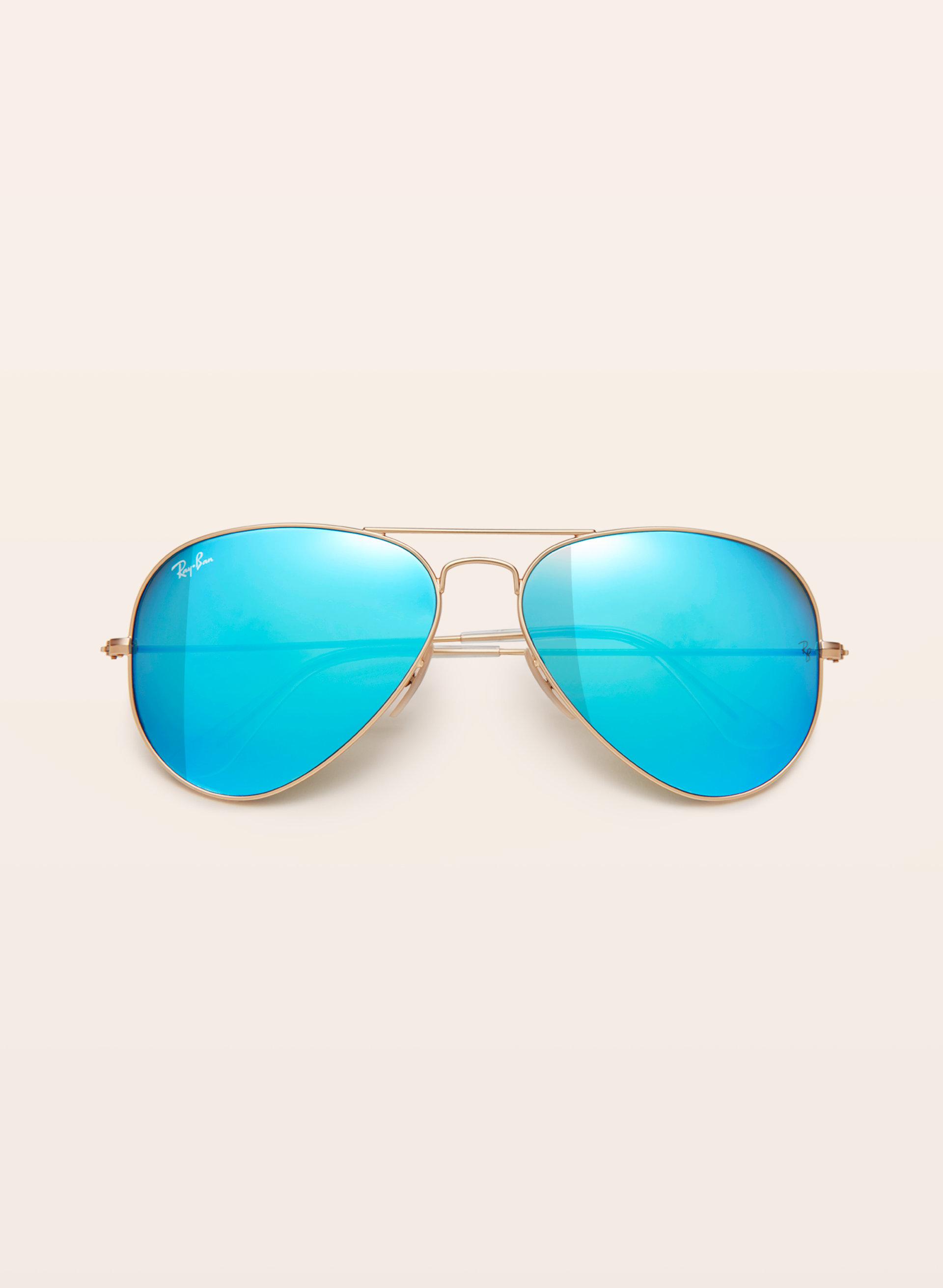 ray ban sonnenbrille frauen aviator blau polarized