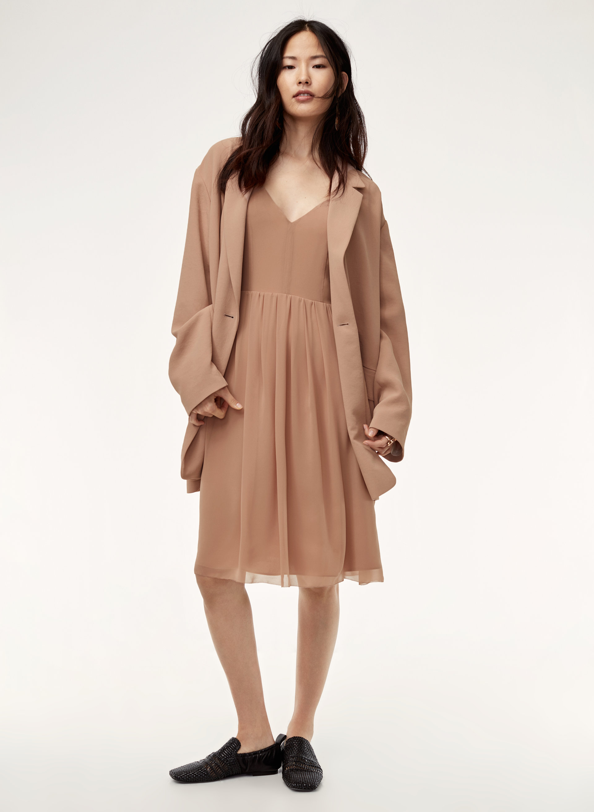 35553bfd77 Wilfred SATINE DRESS | Aritzia US