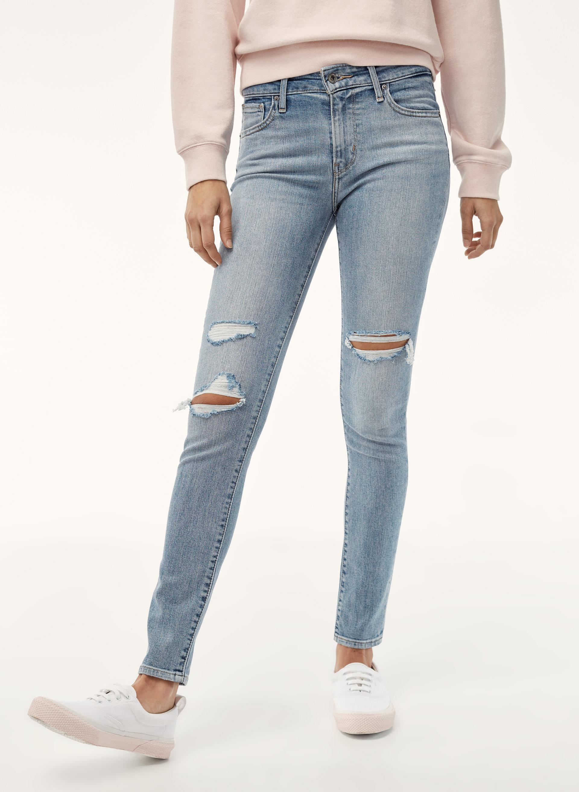 Levis 721 Skinny Aritzia Ca Vintage Skin Rip Off Stretch Soft Jeans