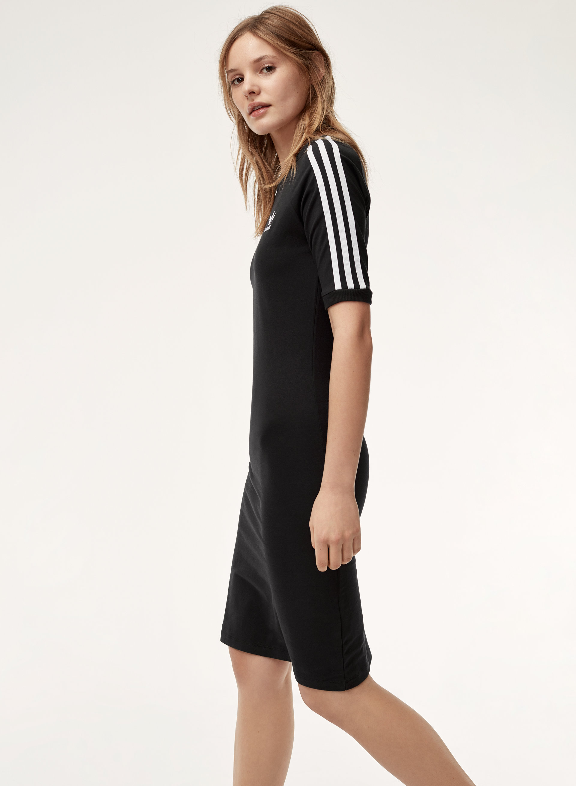 3 Stripe Dress In Black