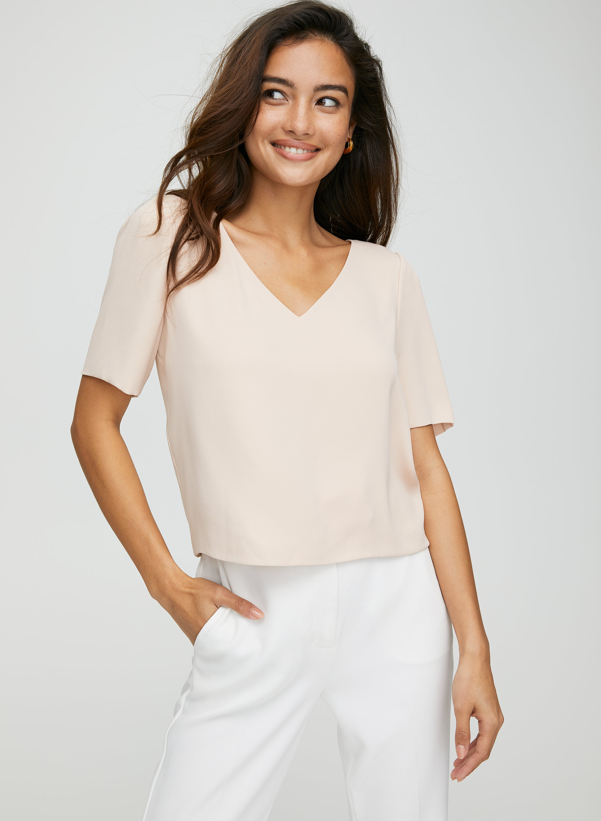 c442e3c91d0c3 randy blouse Cropped, short-sleeve blouse