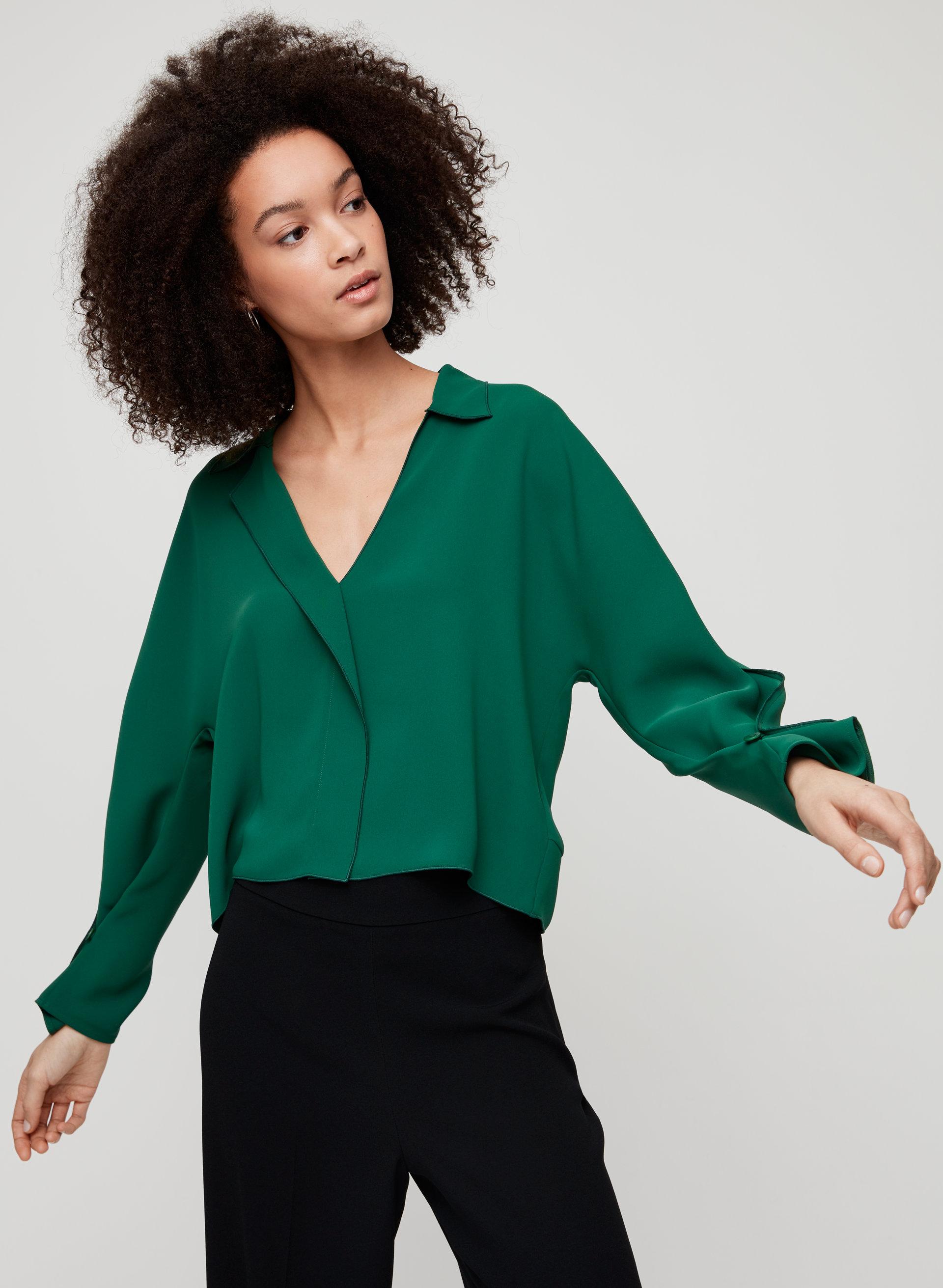 9a838b723955ec martin blouse Cropped, V-neck blouse