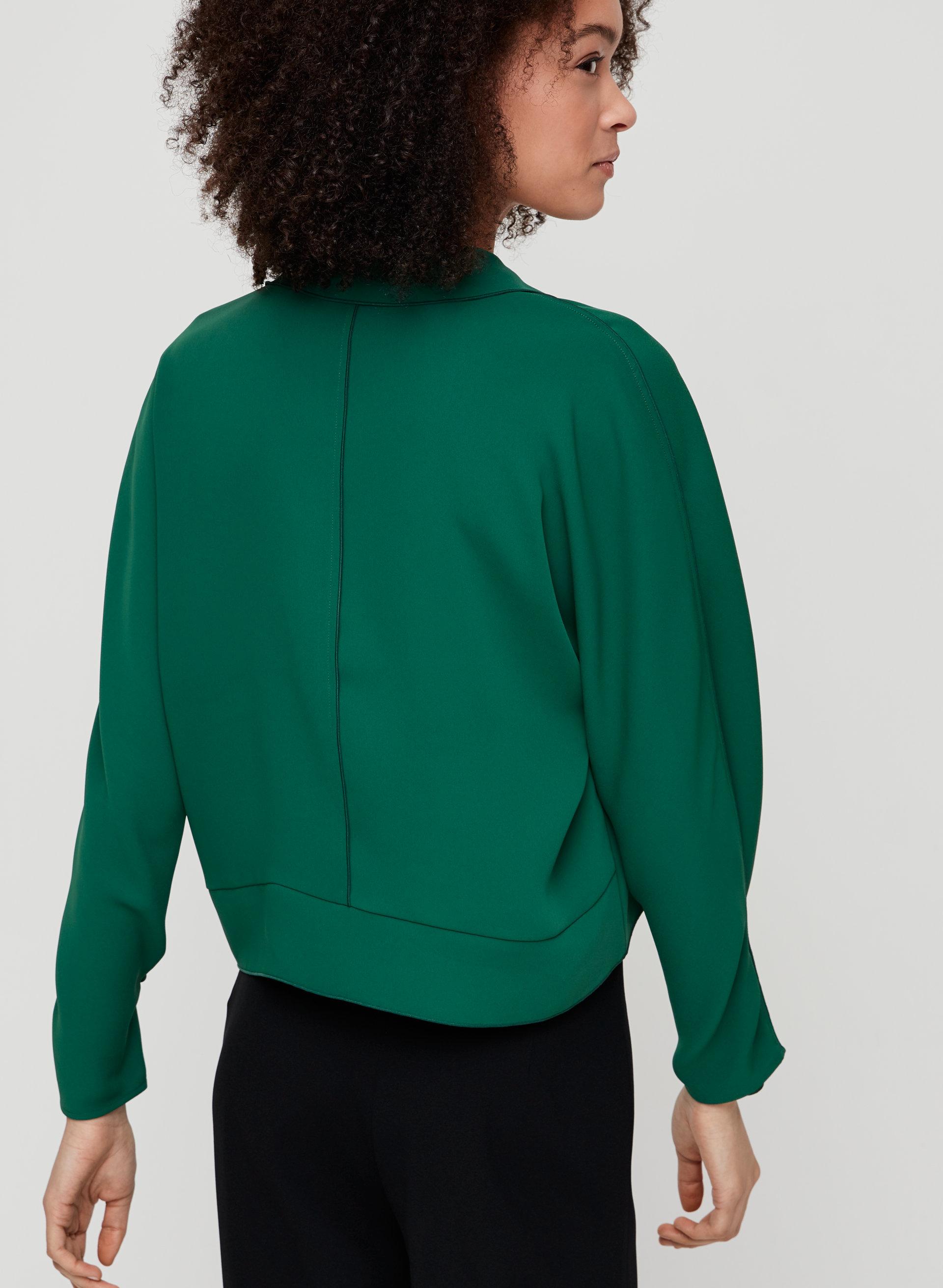 c7177e38b87ab4 MARTIN BLOUSE - Cropped, V-neck blouse