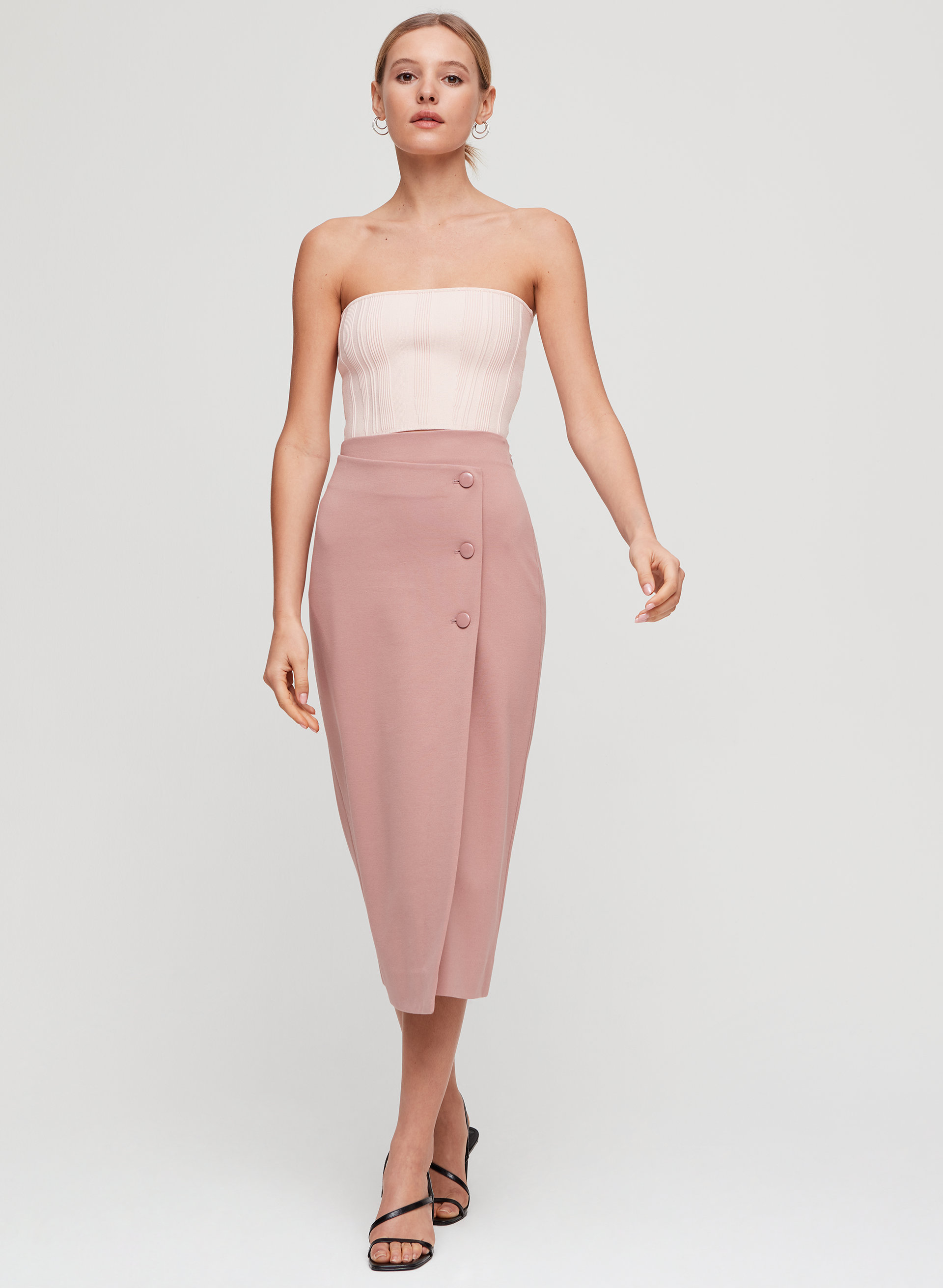 a512d86a611c ESSAMBA TUBE TOP - Ribbed, knit tube top. Styled with billy skirt ...