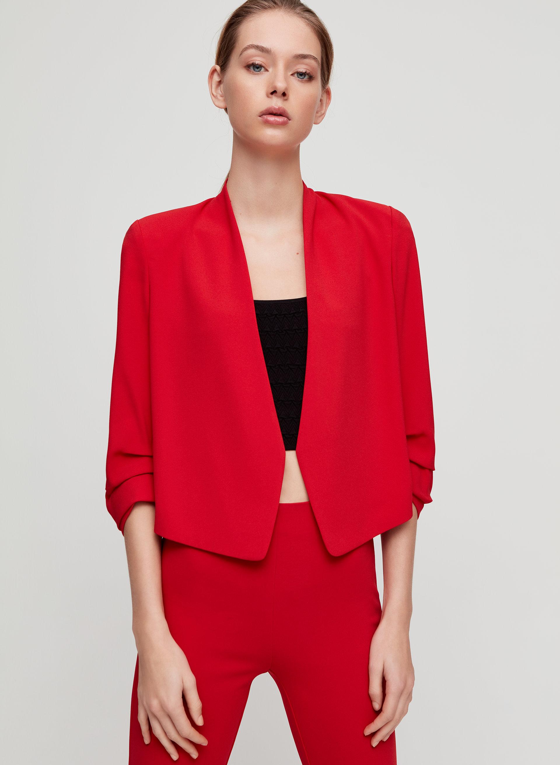 fd0ebb017 macauley short blazer Cropped, 3/4 rolled sleeve blazer
