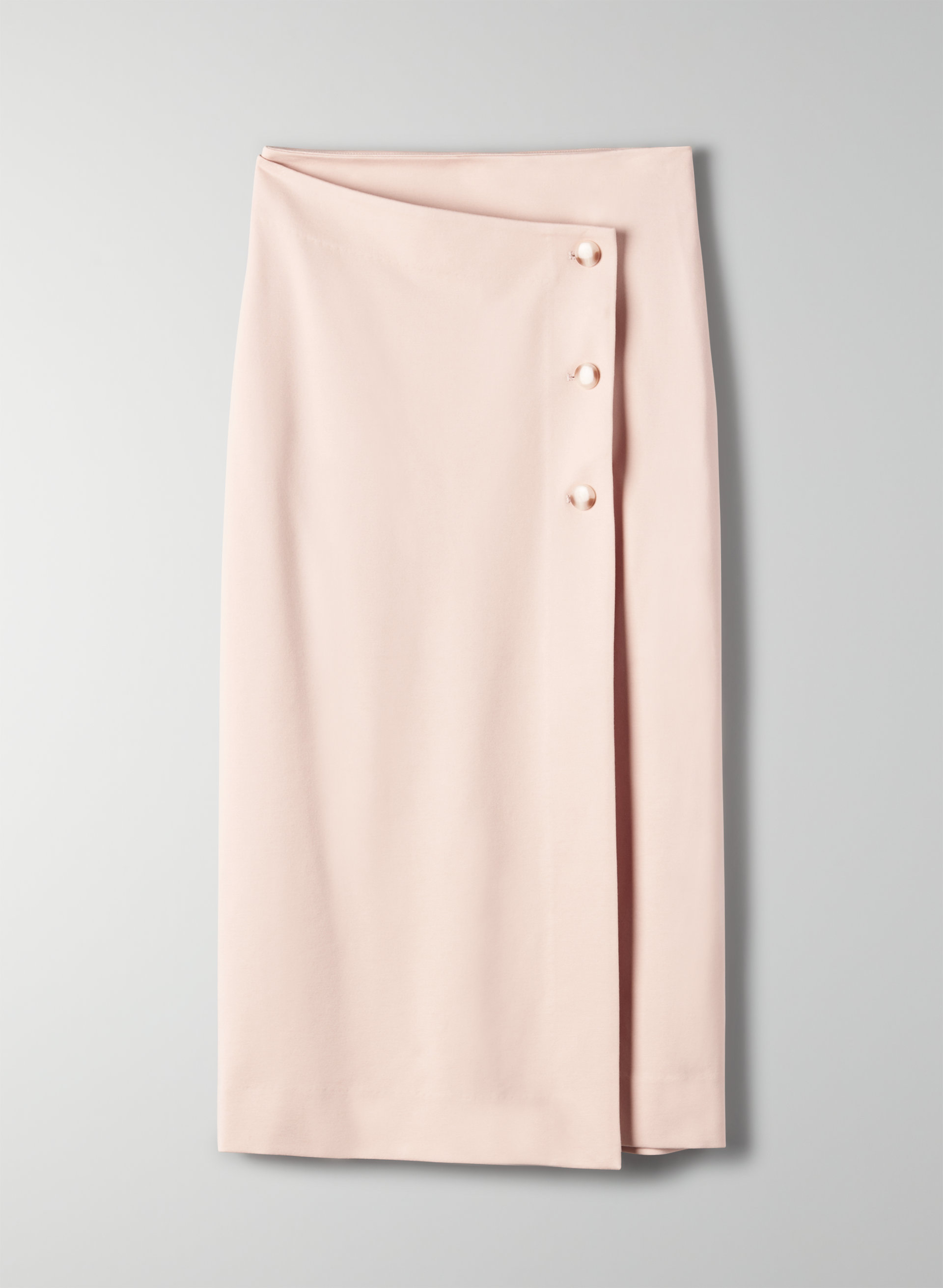 6c499e3ca BILLY SKIRT - Buttoned, wrap midi skirt