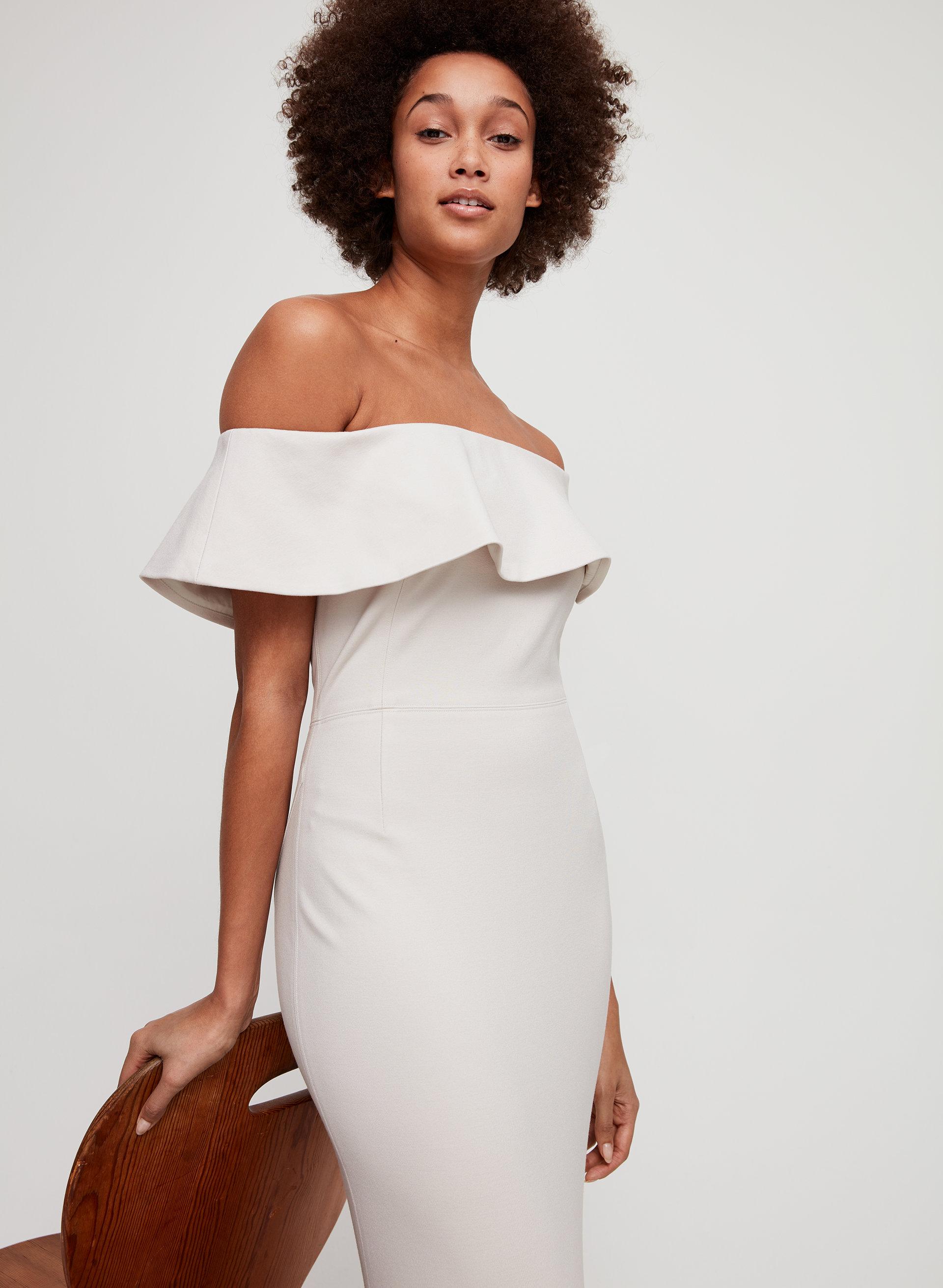 dd5635654a RUSLAN DRESS - Off-the-shoulder midi dress