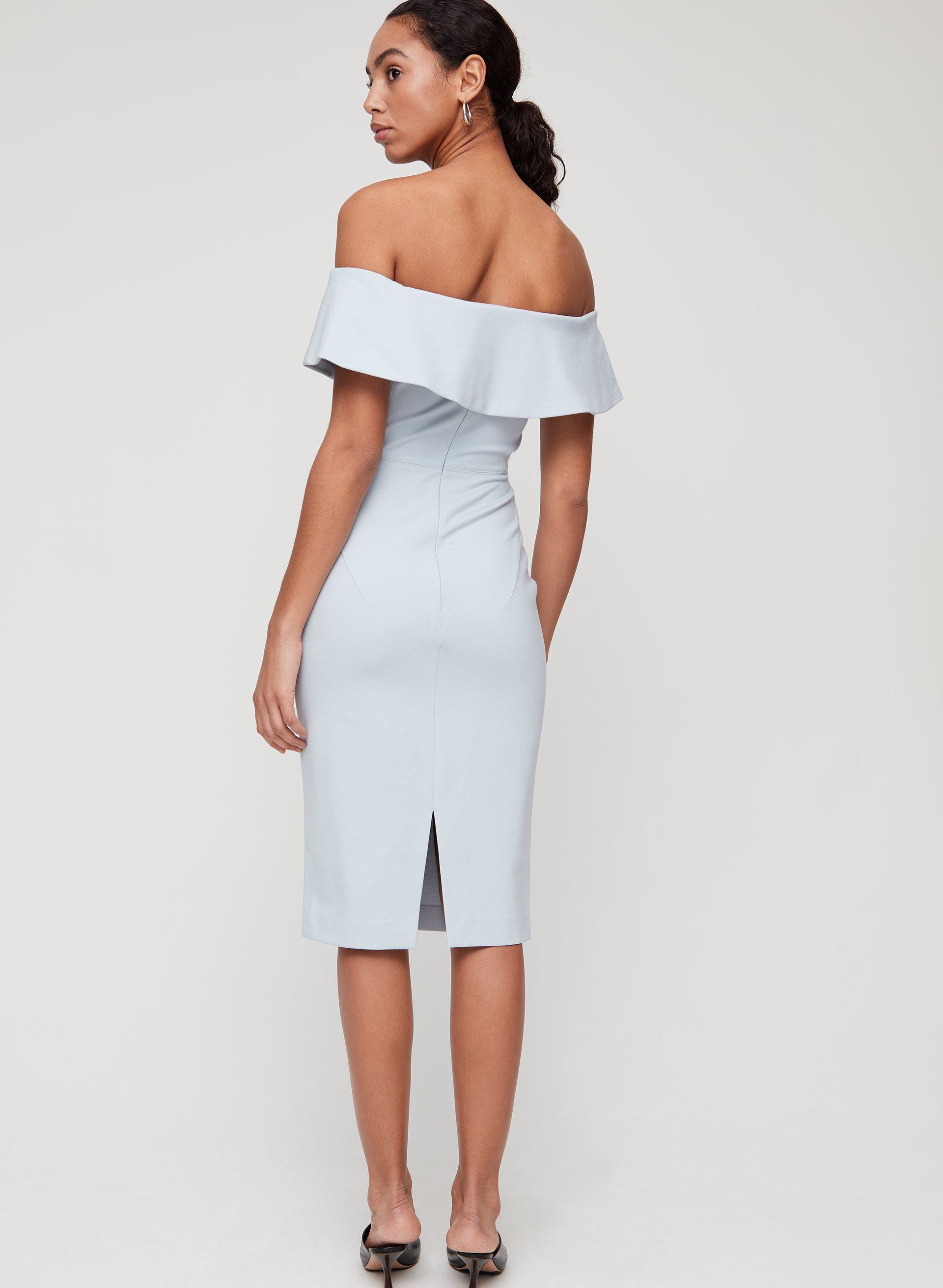 65caf2c3dd ruslan dress Off-the-shoulder midi dress