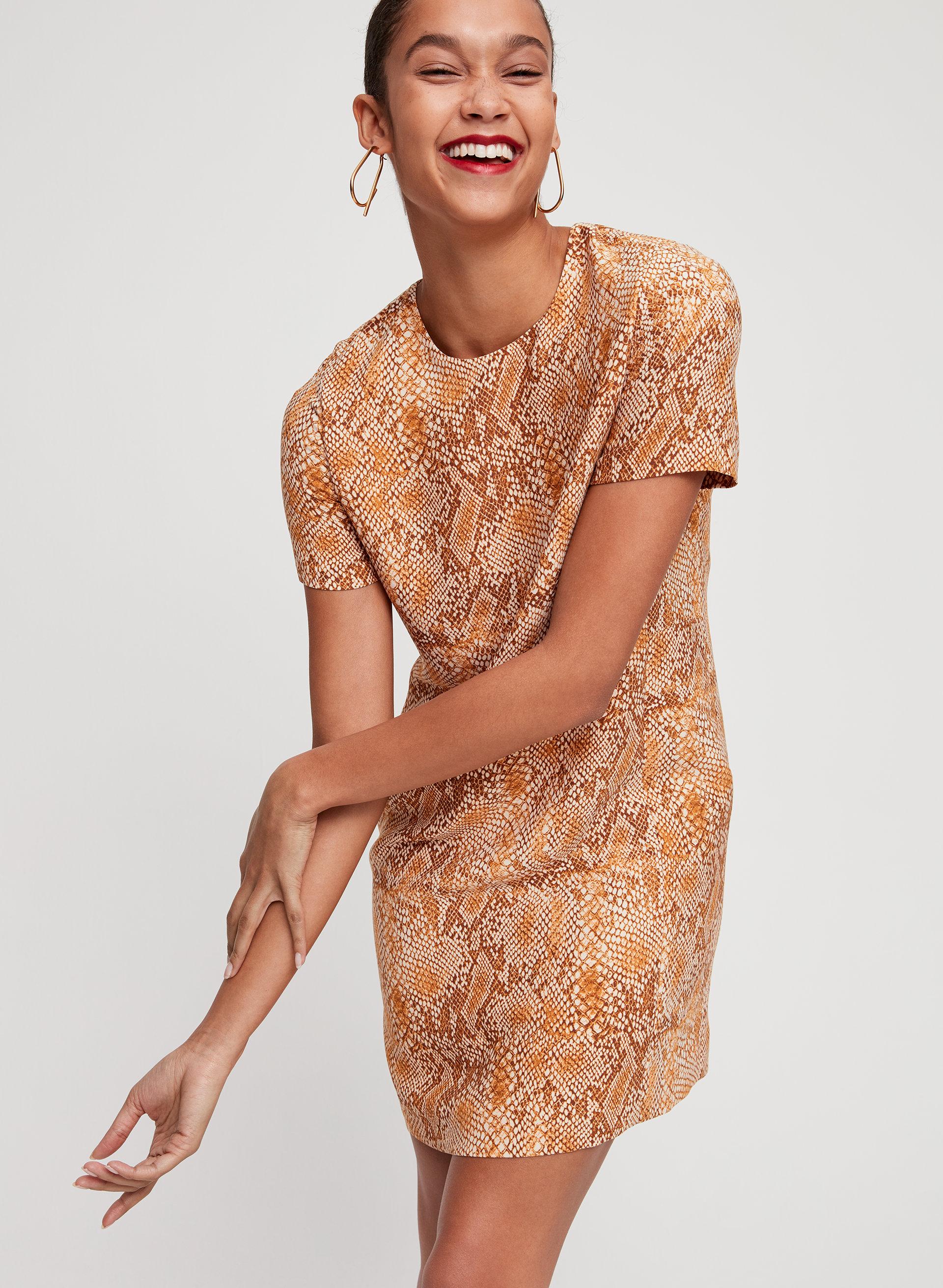 3100755495 patricio dress Short-sleeve, snake print dress