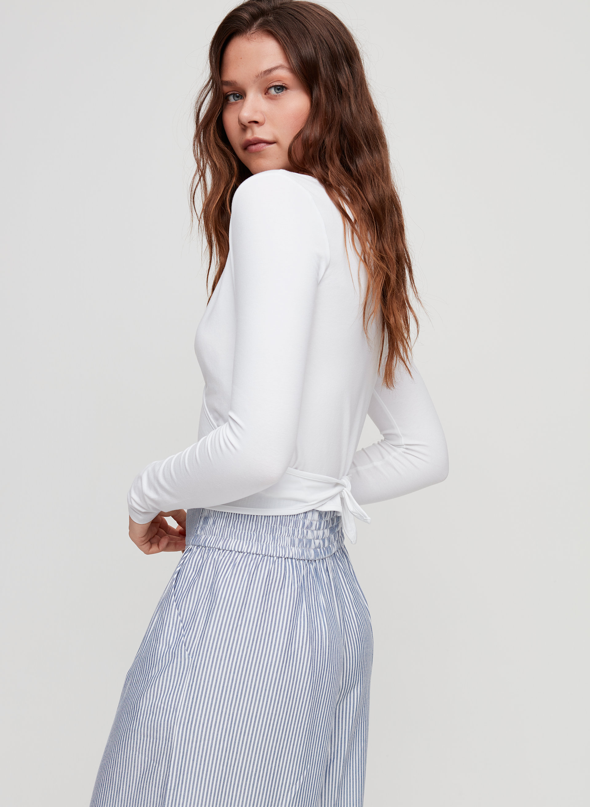 860e21fc819 Sunday Best WRAP CROP TOP | Aritzia CA