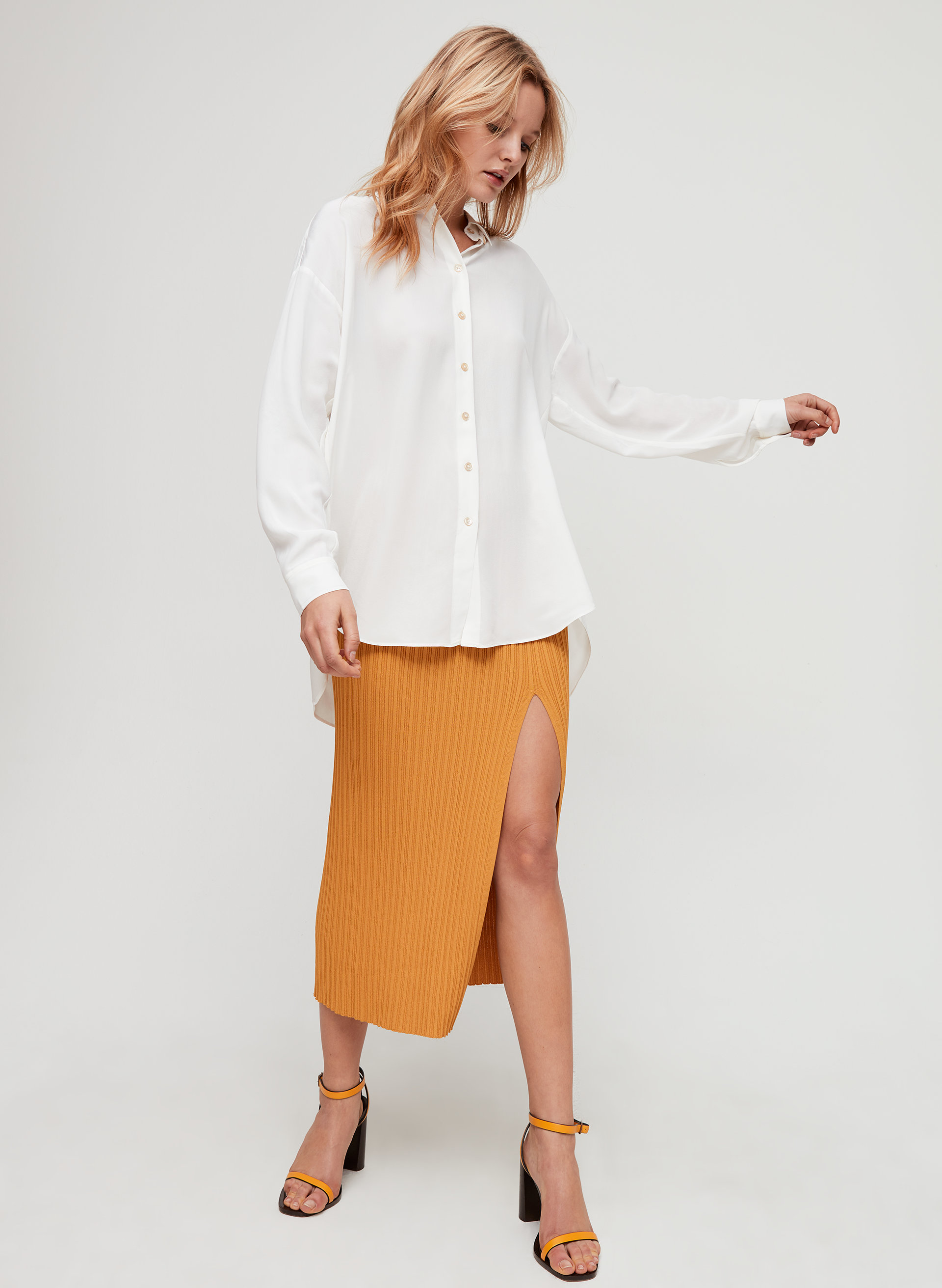 736eb4f5d ALMA SILK SHIRT - Oversized button-up blouse
