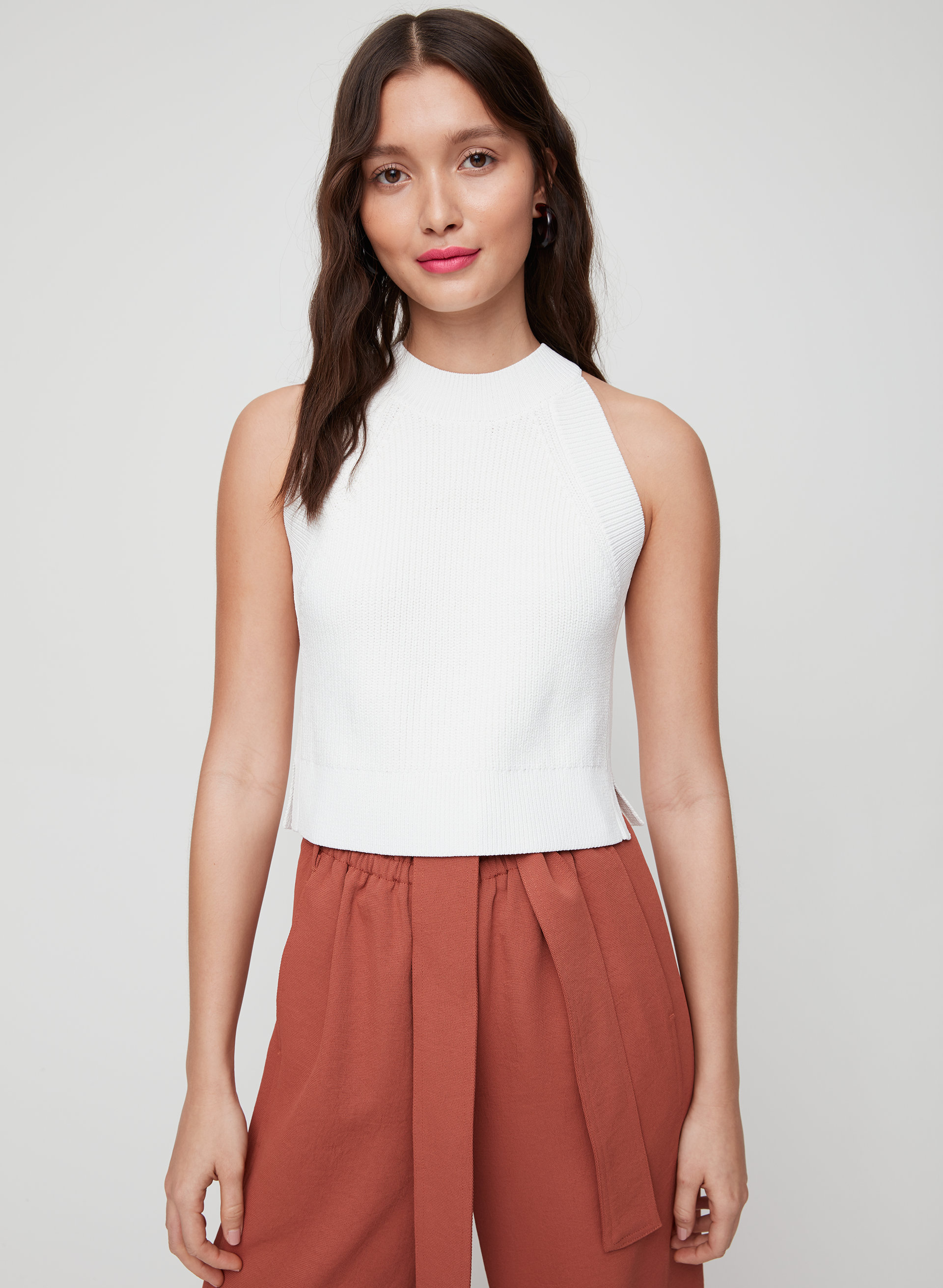 2f2114cd910 CREVIER KNIT TOP - Cropped, knit tank top