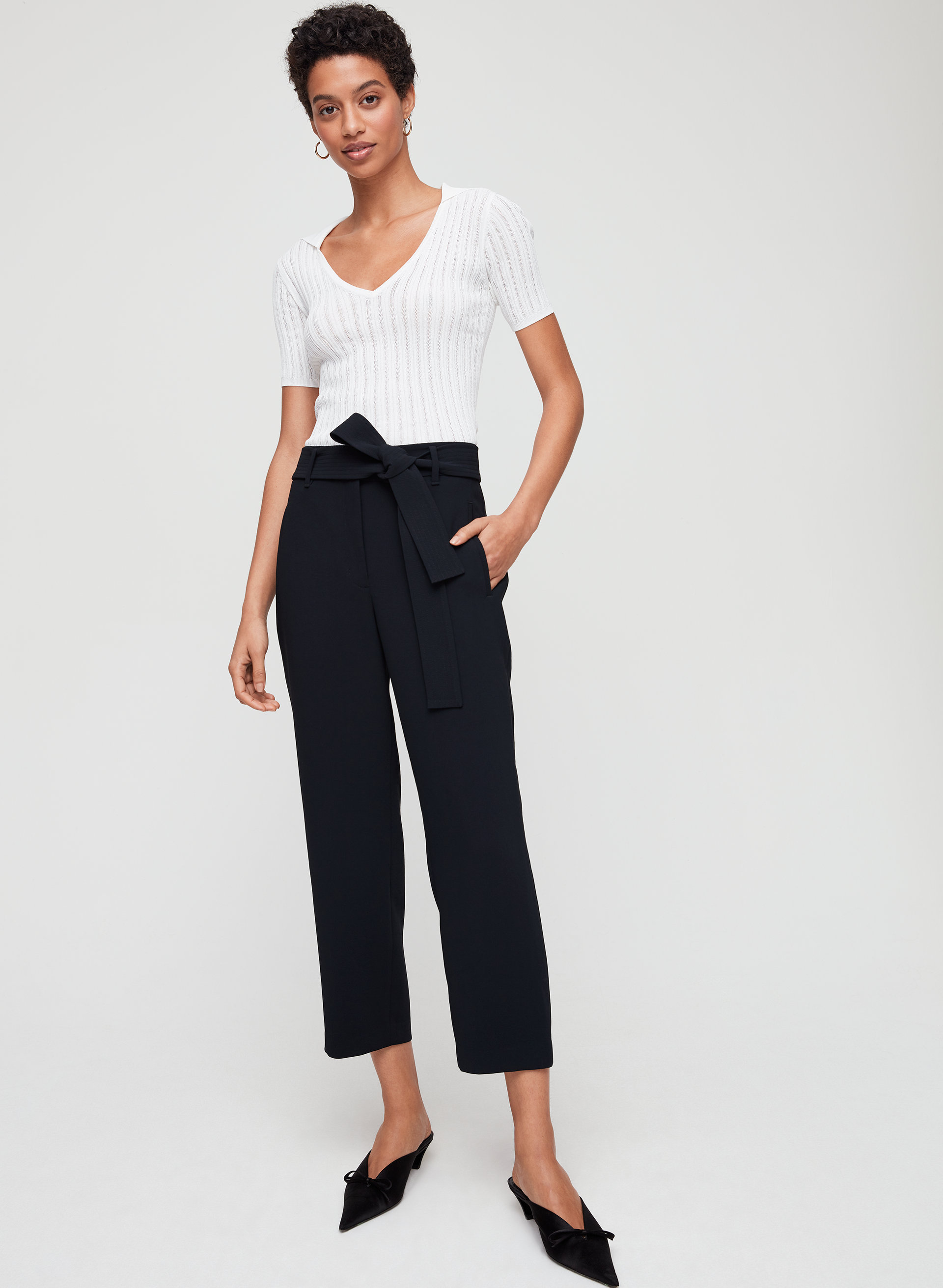 881fba677d547 Wilfred TIE-FRONT PANT