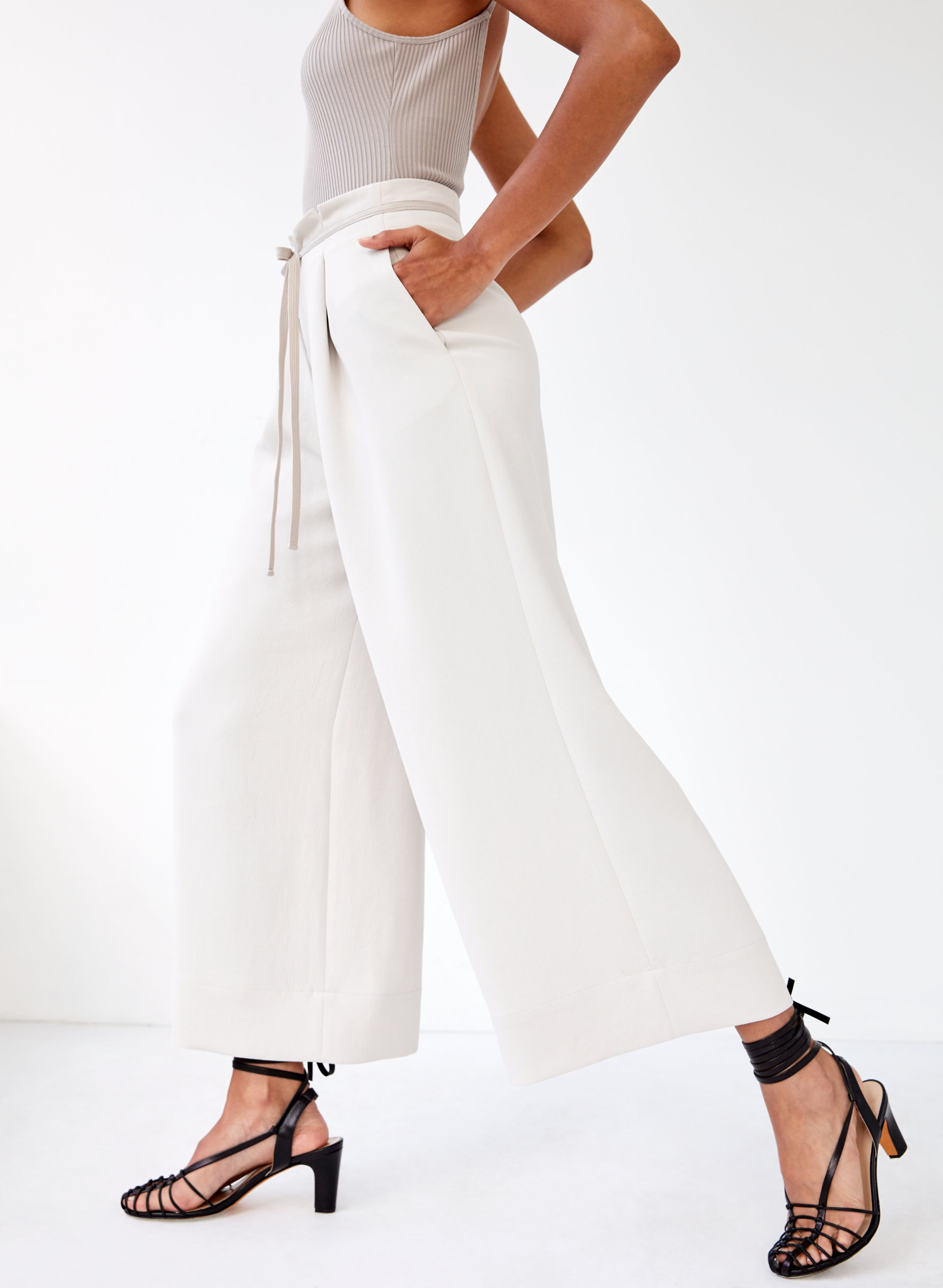 2f3697340457 high-rise culotte Cropped, wide-leg pant