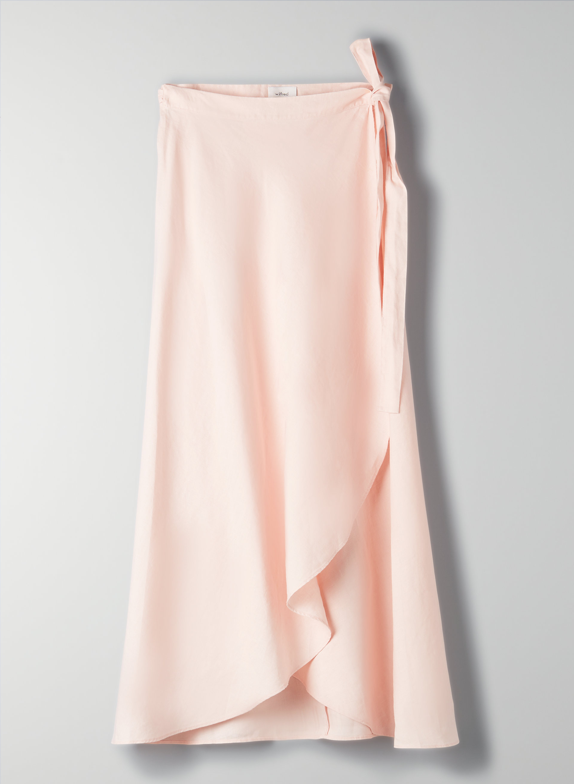 721ce400b ELETA SKIRT - Linen-blend, wrap midi skirt