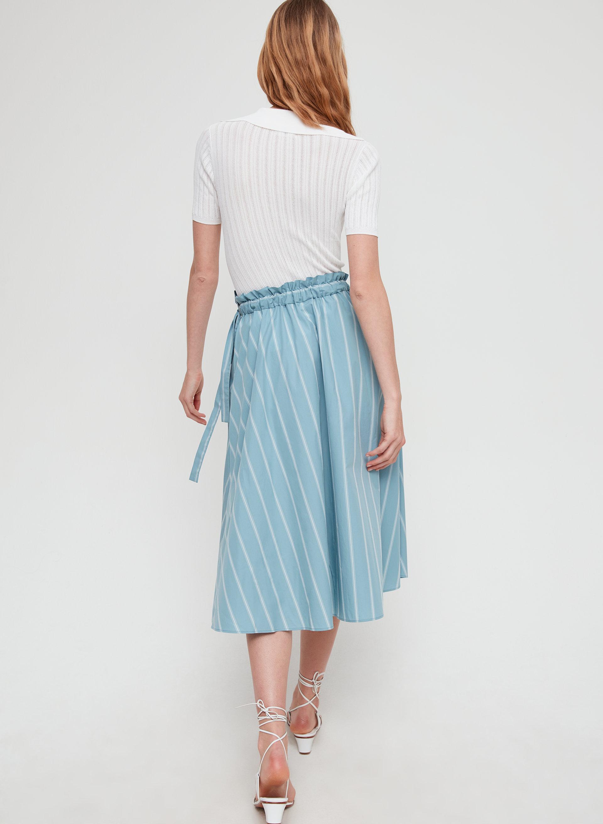 1393421bd CHAMBLY SKIRT - Striped, A-line midi skirt