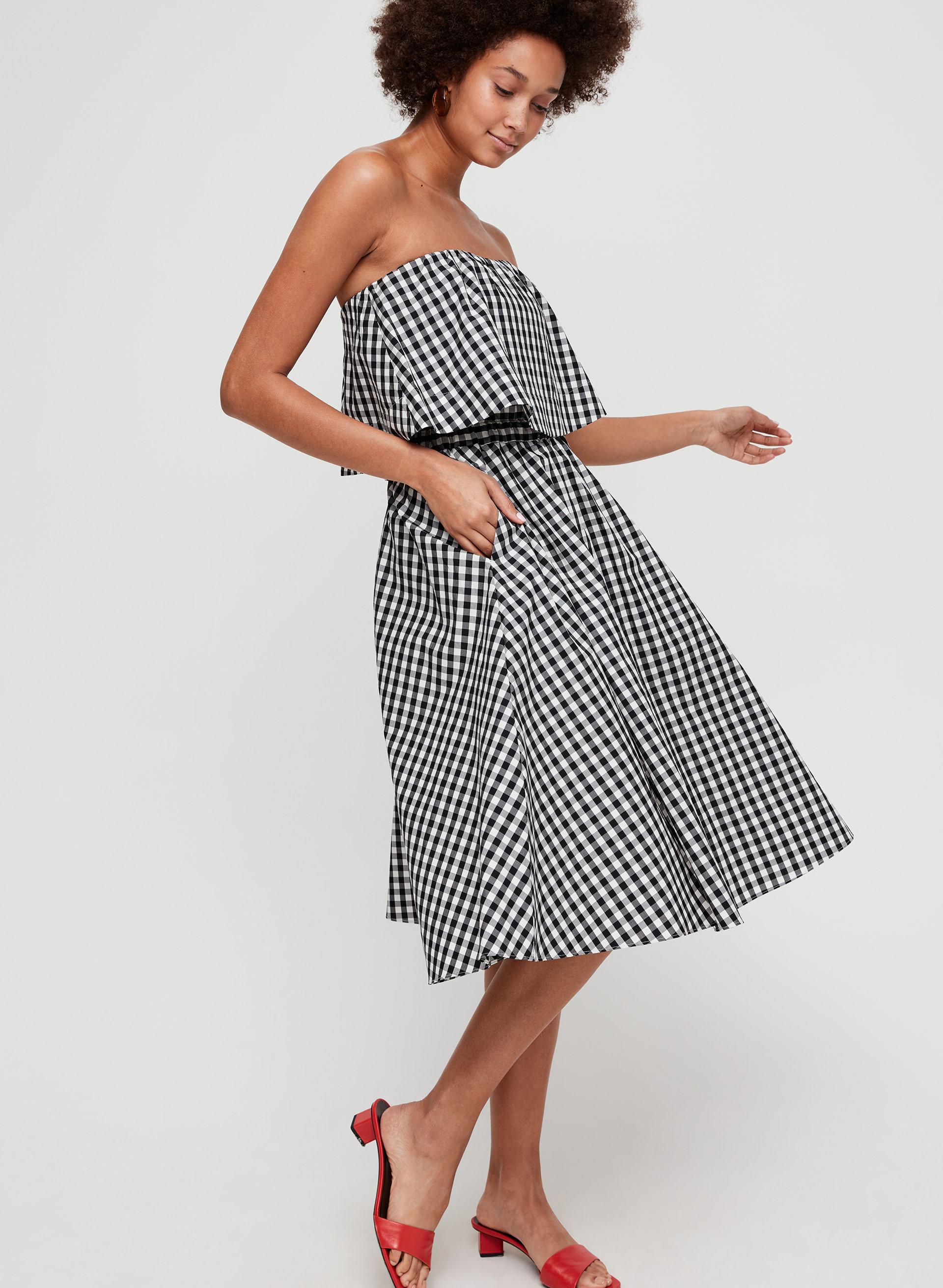 bf2d6cfea0 chambly skirt A-Line, Gingham Midi Skirt
