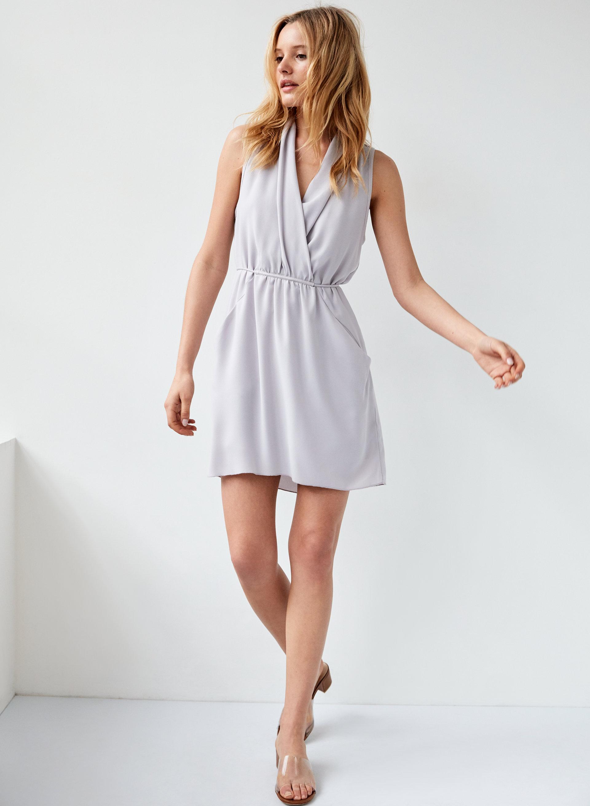 d04f2302bf7f9 SABINE DRESS - Faux-wrap mini dress with pockets