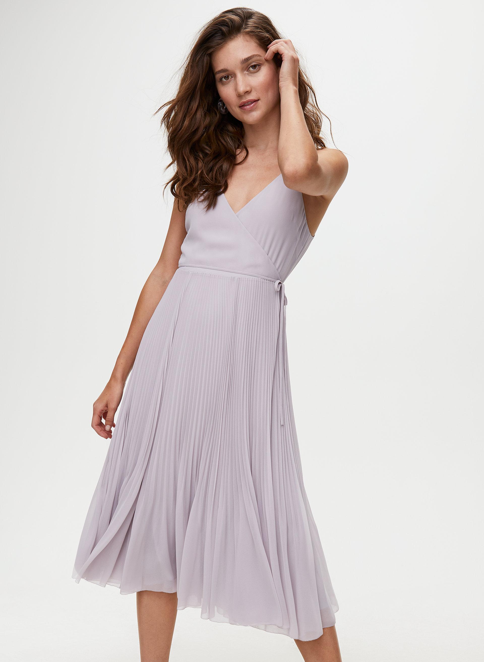 caa2aa134d35c beaune dress Pleated wrap midi dress