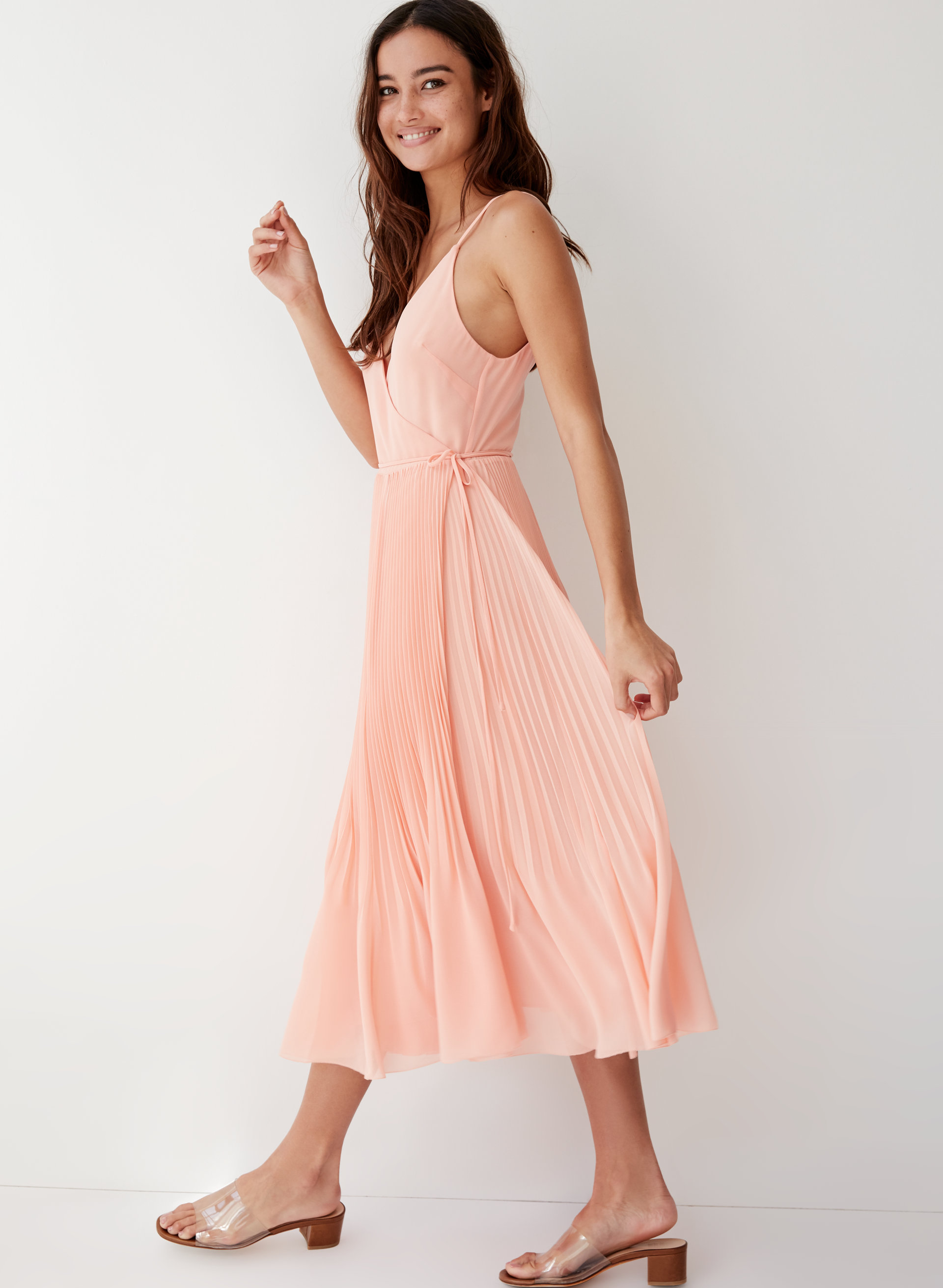30f81f390d Pleated Wrap Midi Dress. Wilfred BEAUNE DRESS