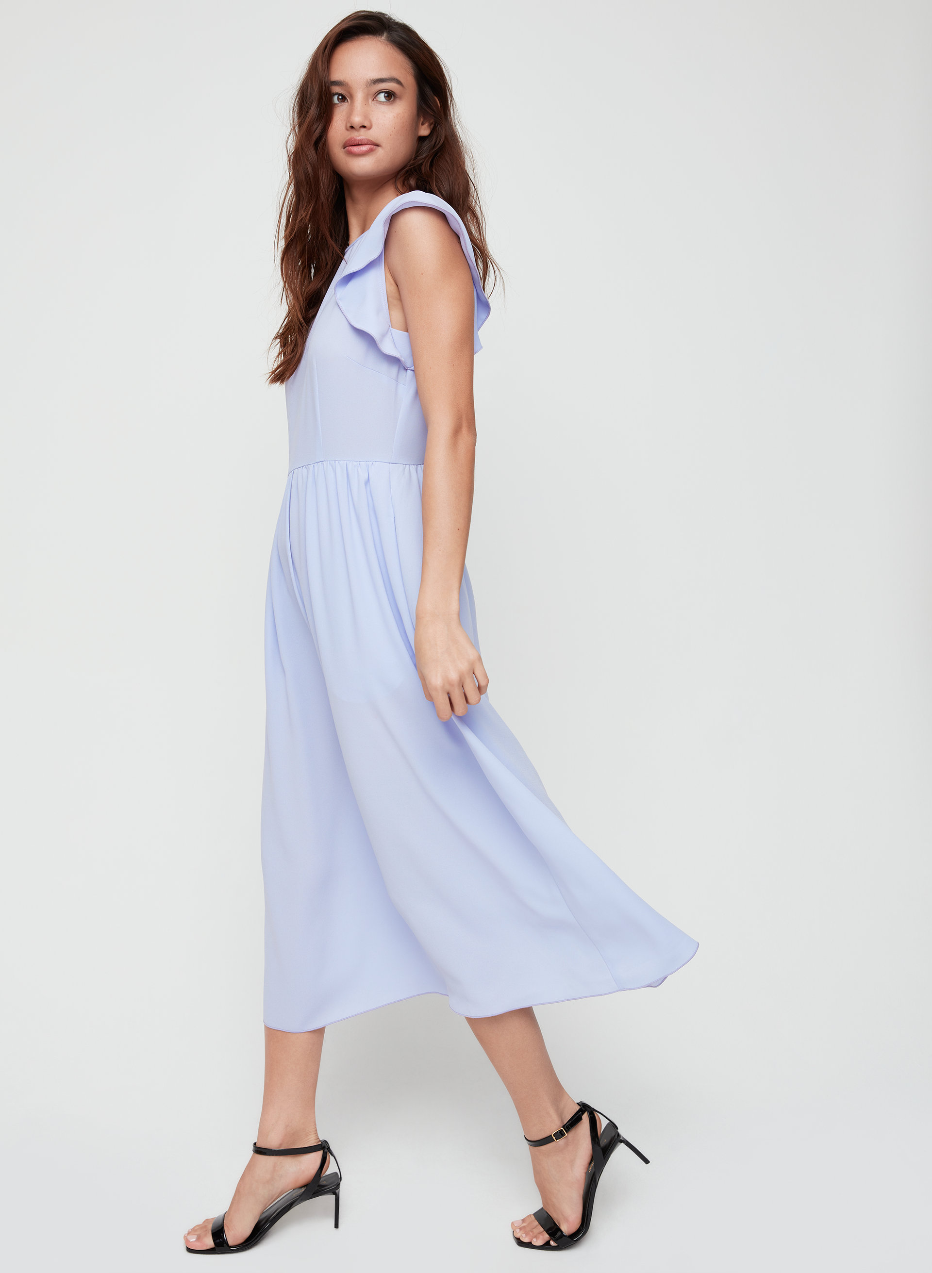 1ddca8e42e8c FLEURETTE DRESS - Flutter sleeve midi dress