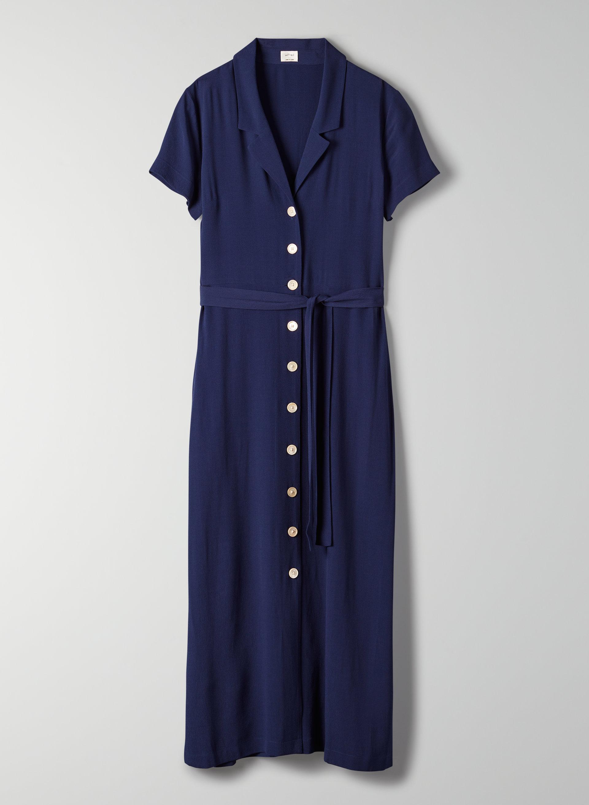 52e0f7806a SHIRT DRESS - Button-front midi dress