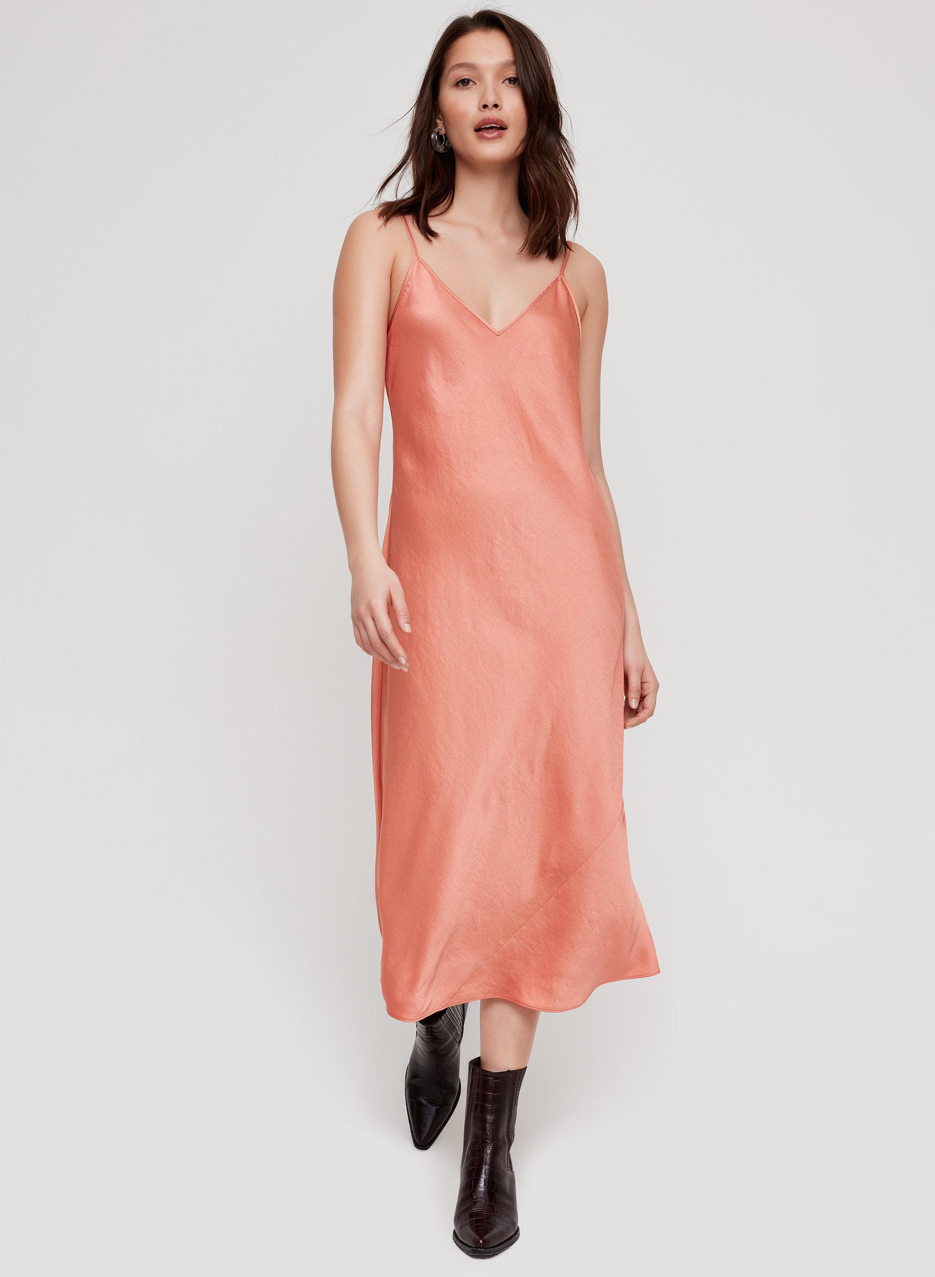 3e23c6b31e788 christine dress Slinky midi slip dress