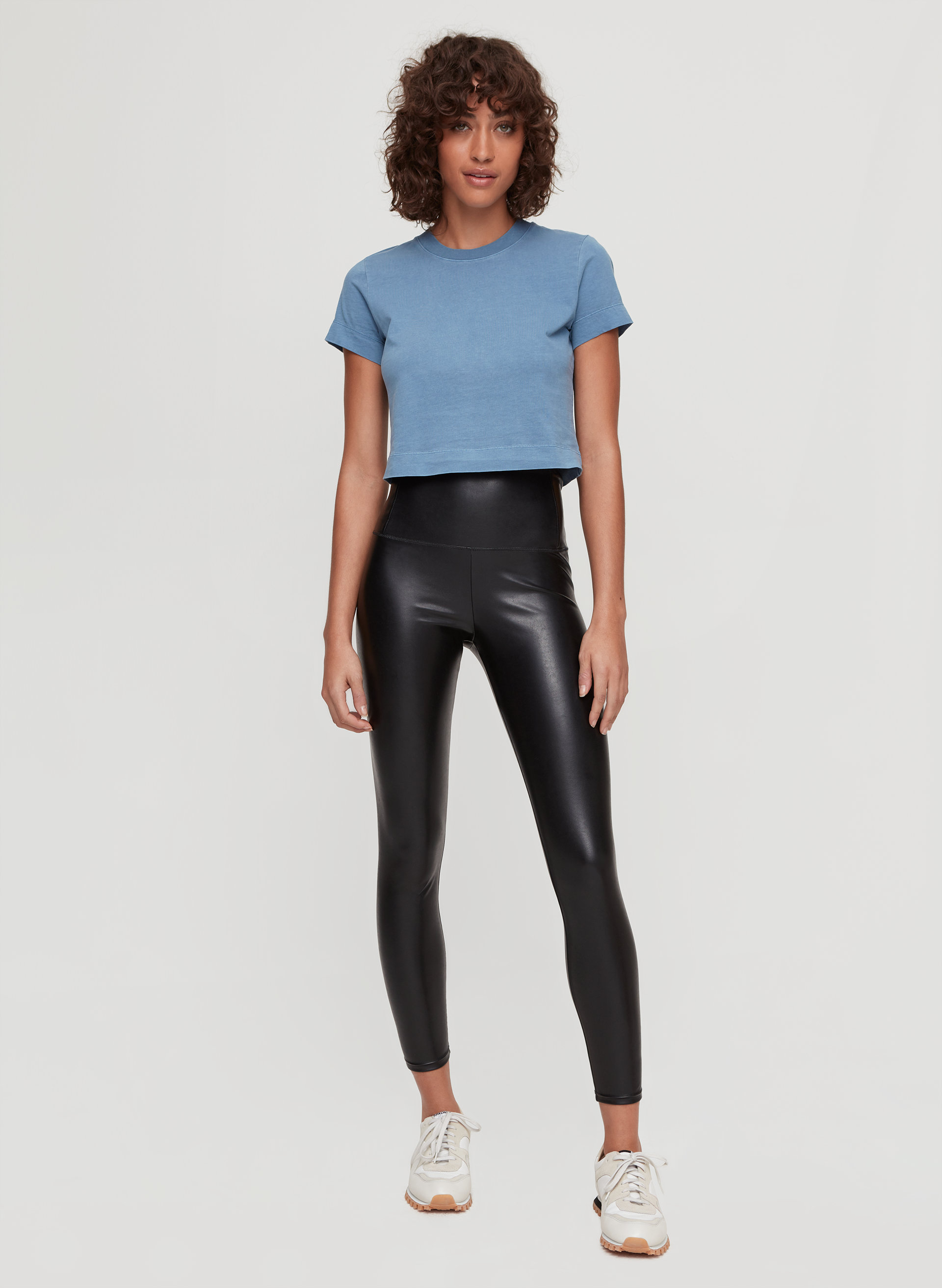 bffbbcd3991aef daria ankle pant Cropped, faux-leather legging