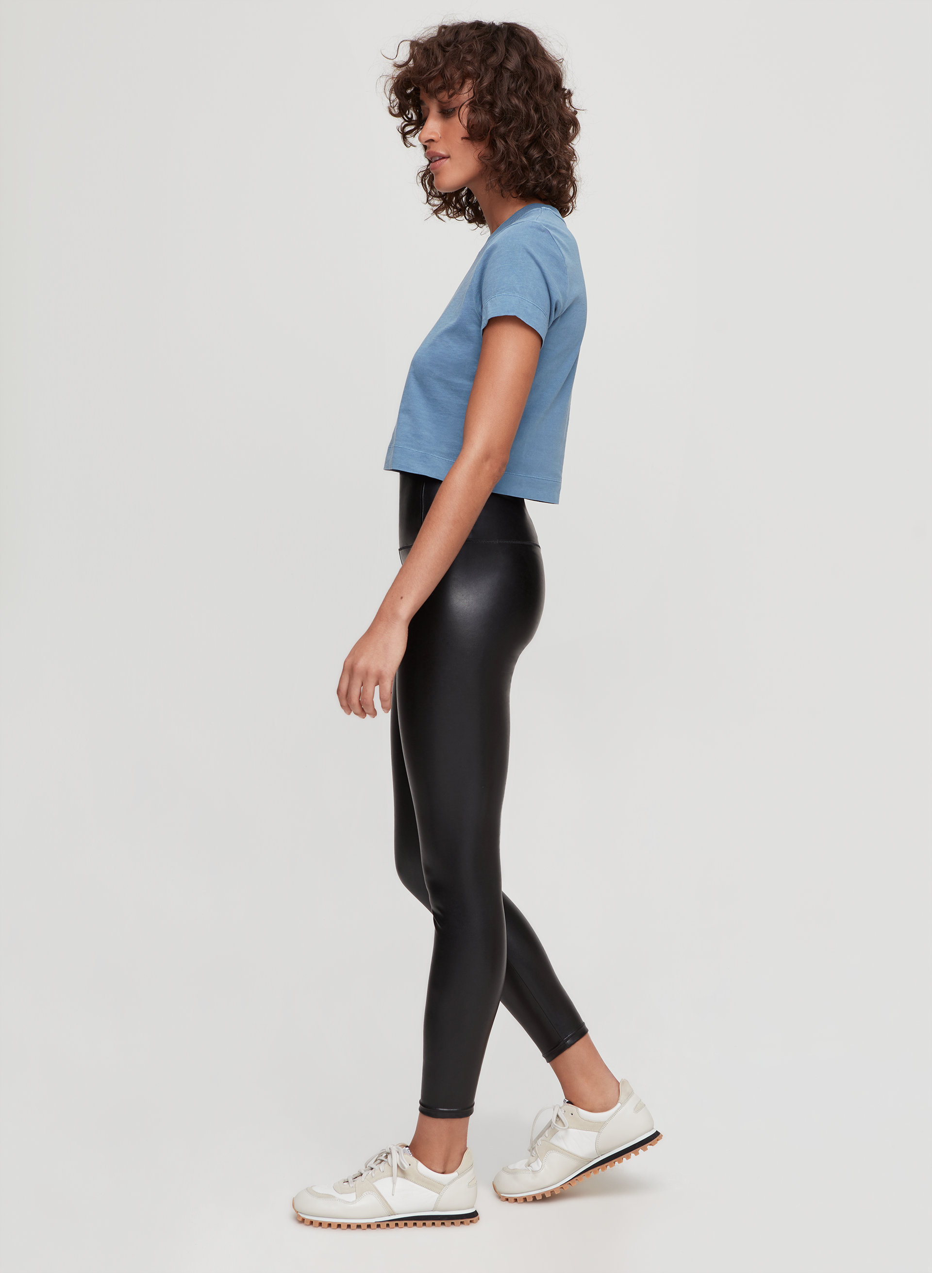 2021a187a9936 DARIA ANKLE PANT - Cropped, faux-leather legging