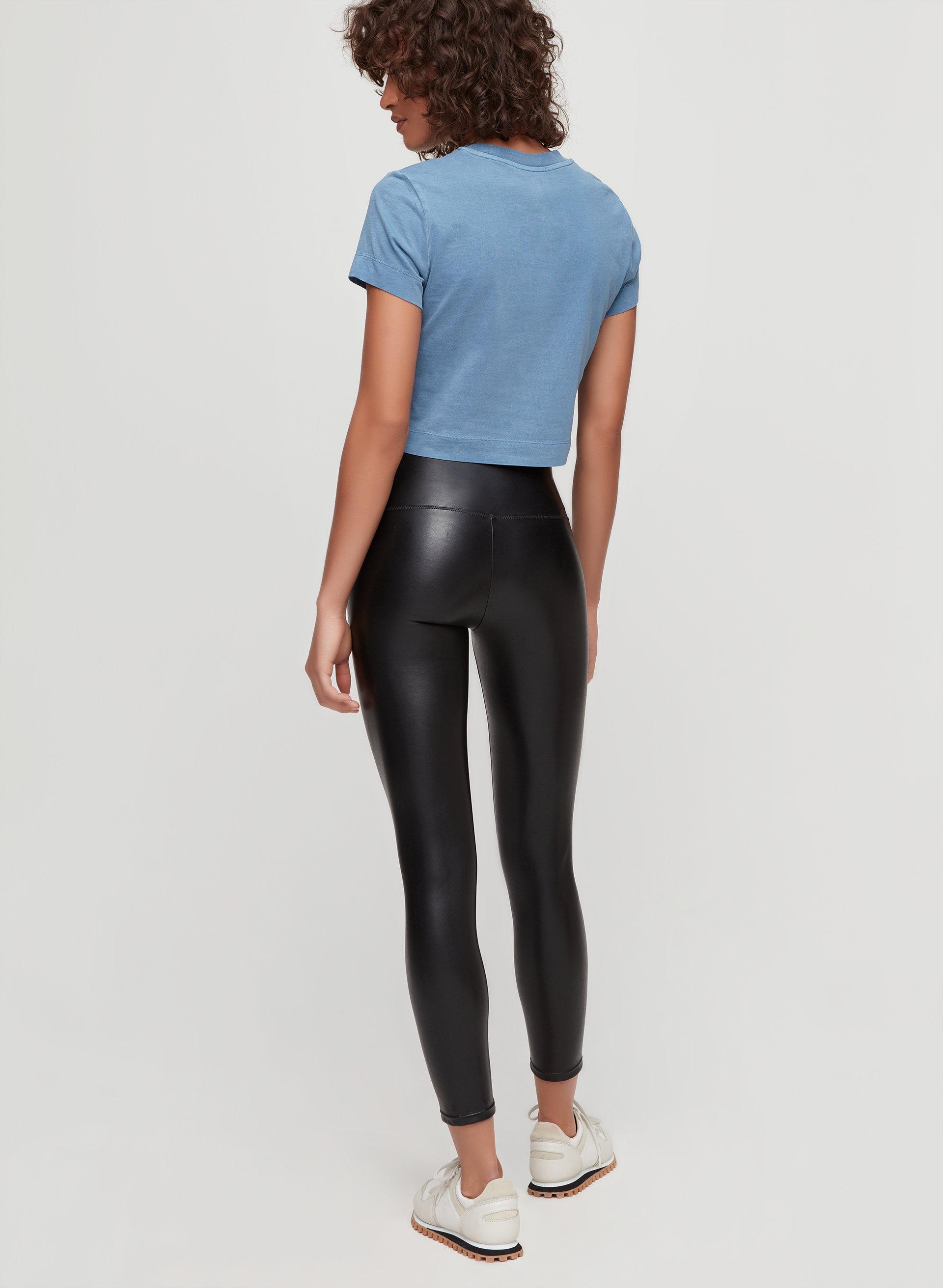 22d062e3a8351c DARIA ANKLE PANT - Cropped, faux-leather legging